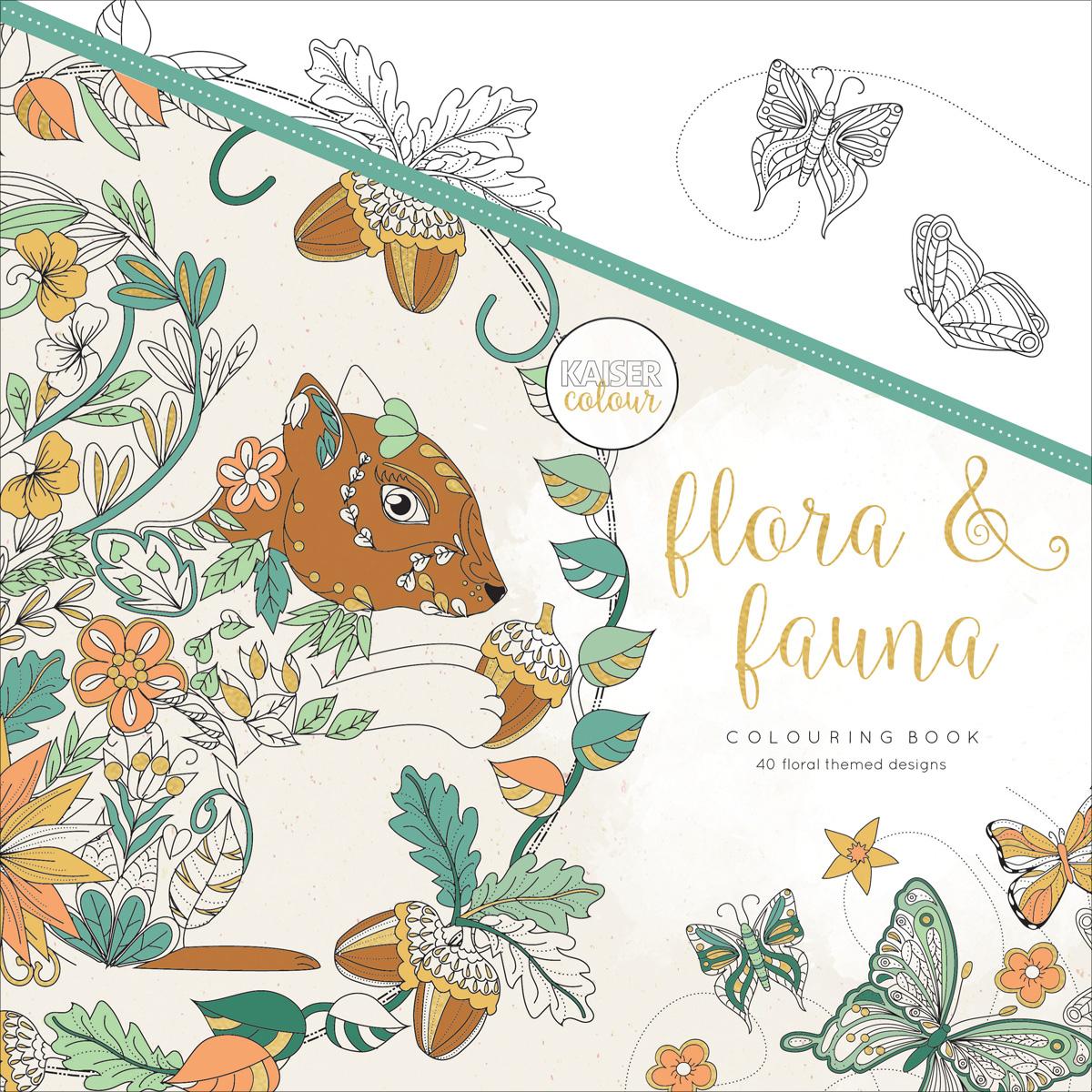 KaiserColour Perfect Bound Coloring Book 9.75X9.75-Flora & Fauna