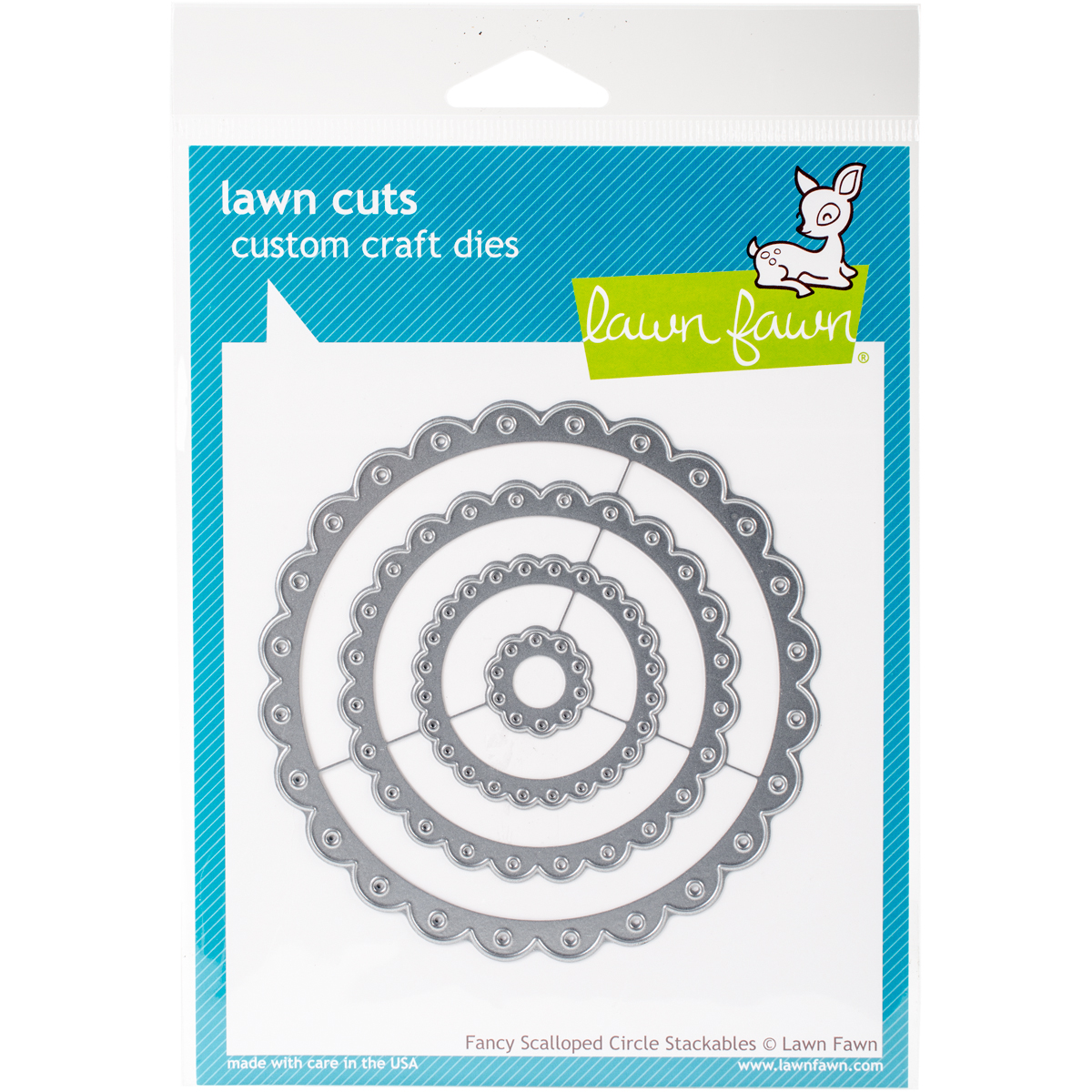 SCALLOPED CIRCLE STACKABLES -LAWN CUTS DIES