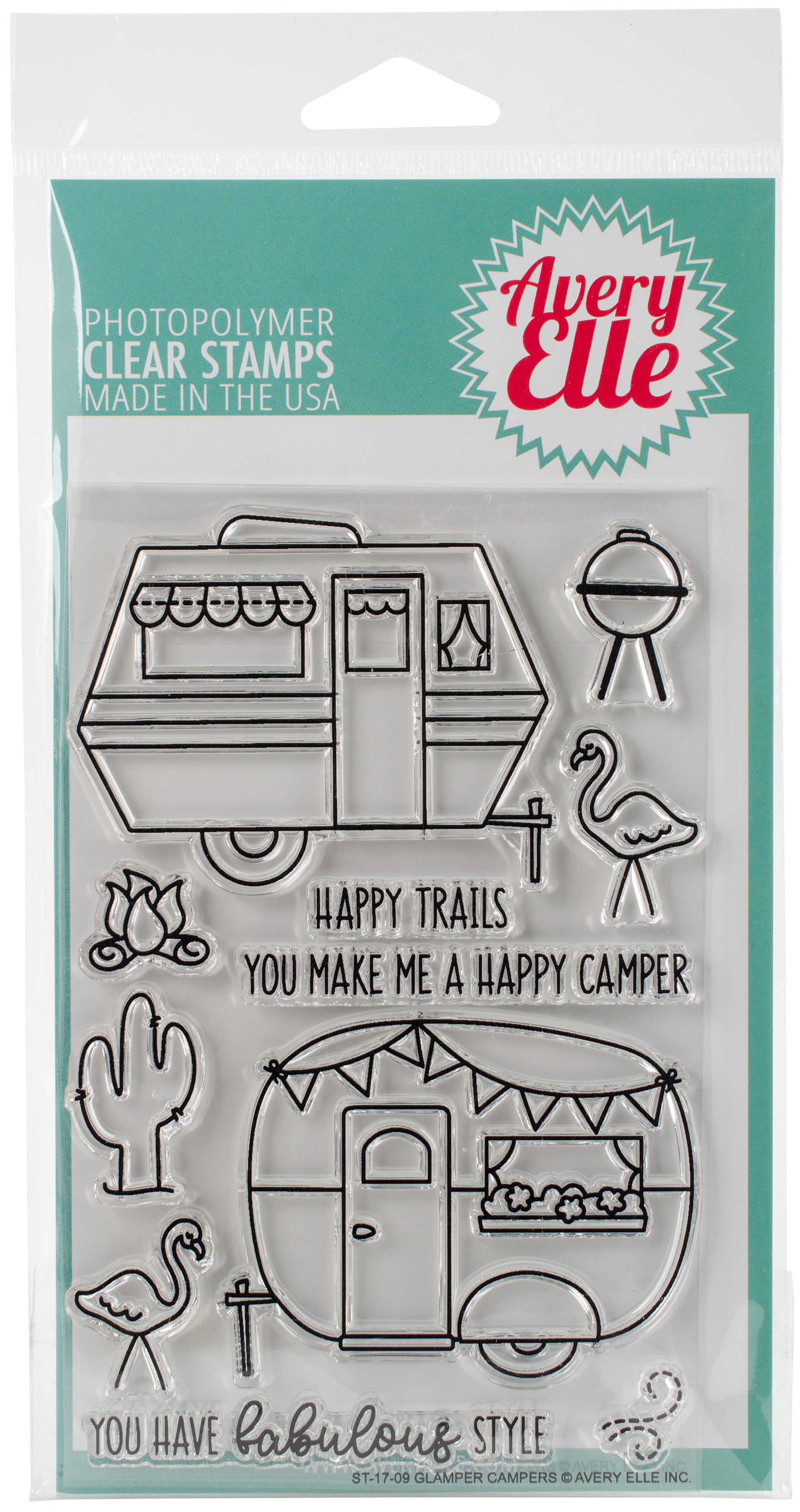 Avery Elle Clear Stamps - Glamper Campers