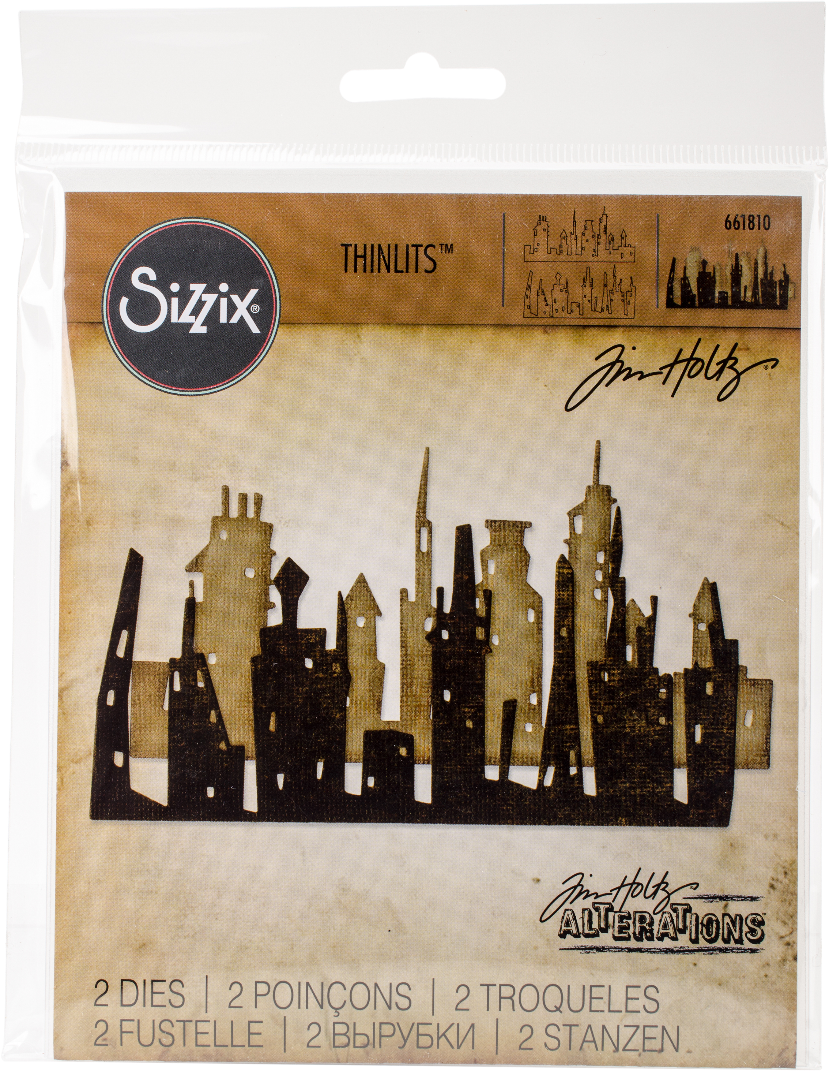 Sizzix Tim Holtz Thinlits 661810 Cityscape, Skyline