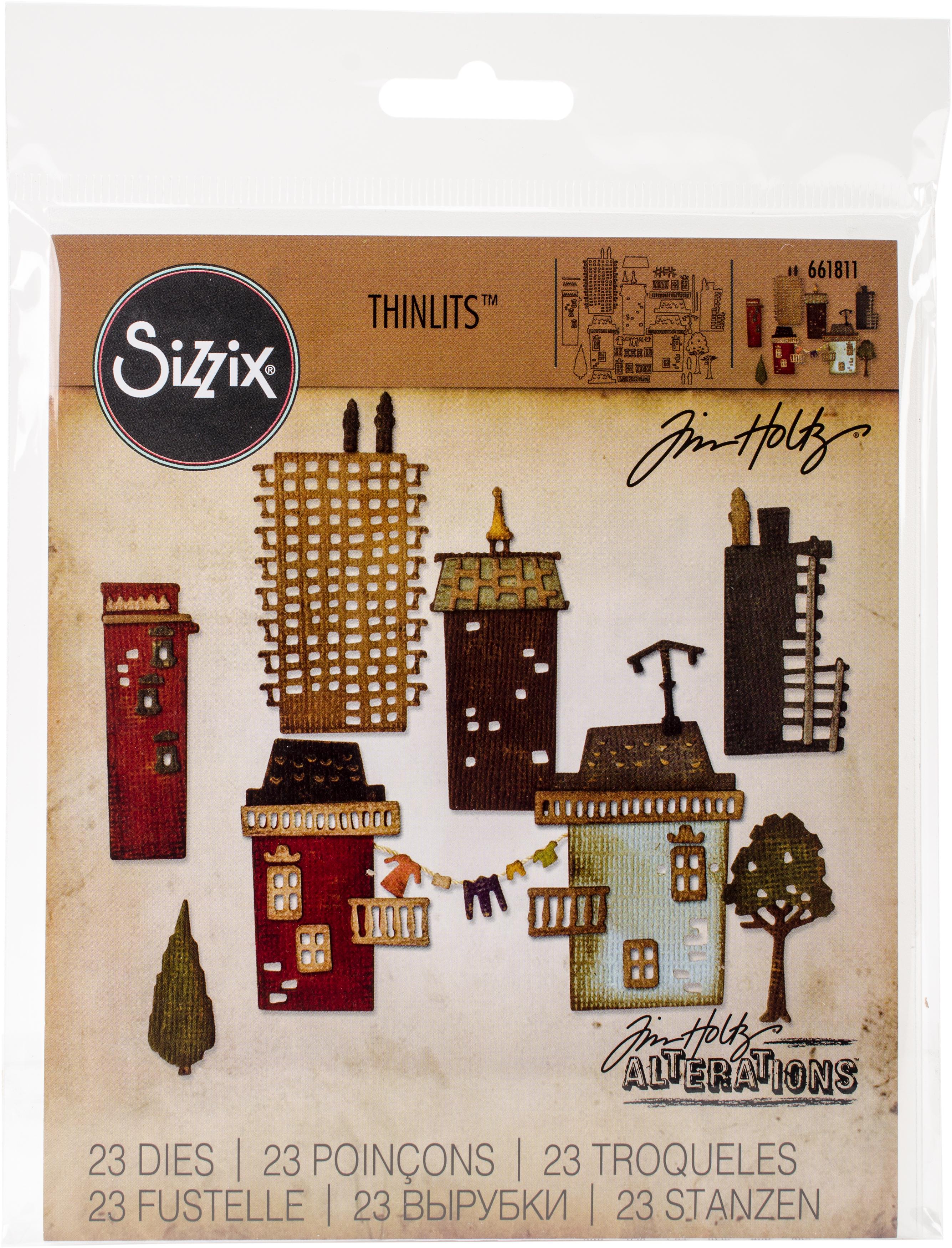 Sizzix Tim Holtz Thinlits 661811 Cityscape, Suburbia