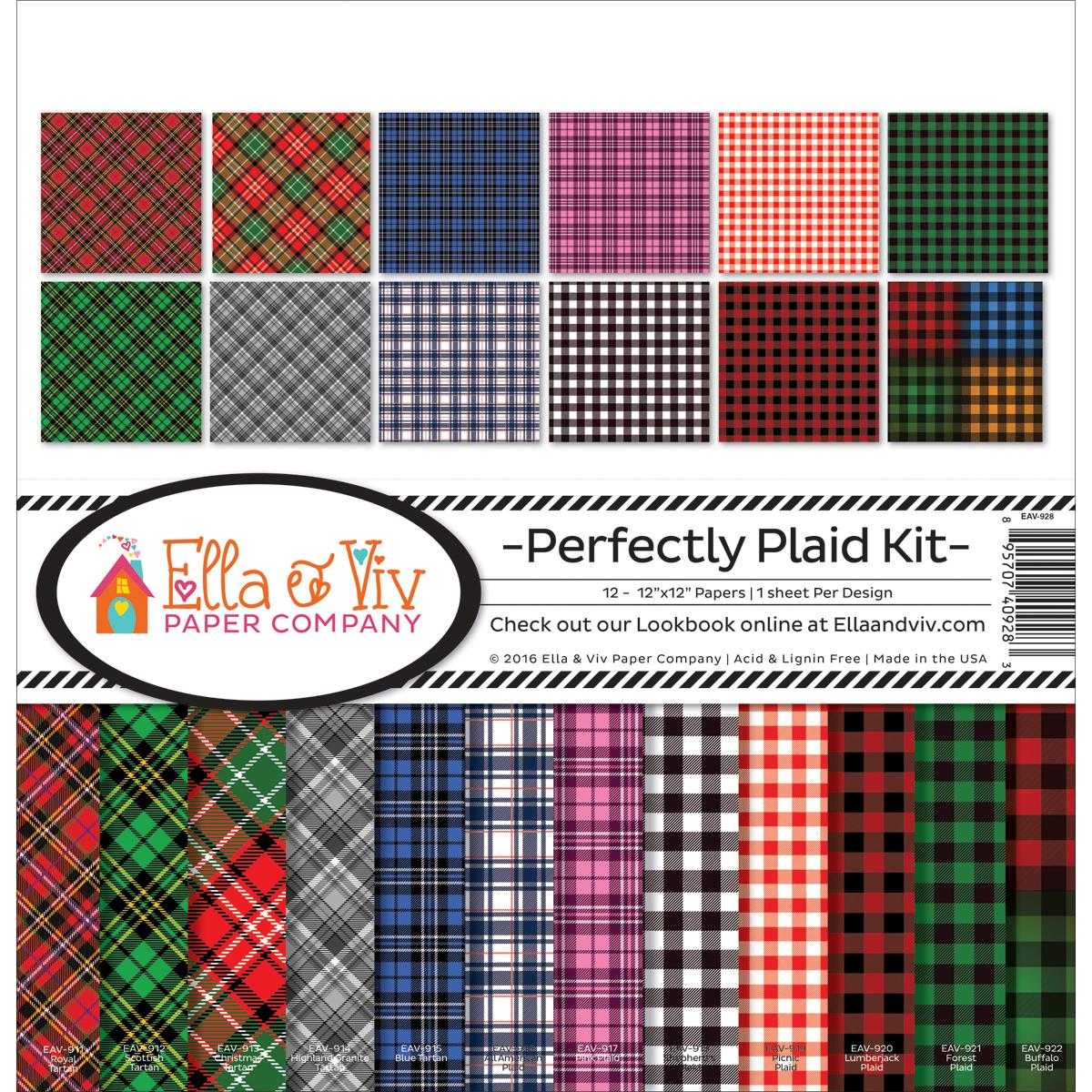 Ella & Viv Collection Kit 12'x12' - Perfectly Plaid