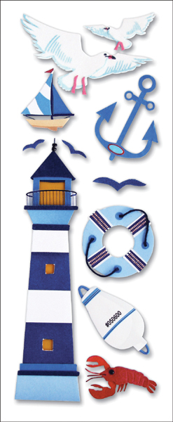 Touch Of Jolee's Dimensional Stickers-Lighthouse