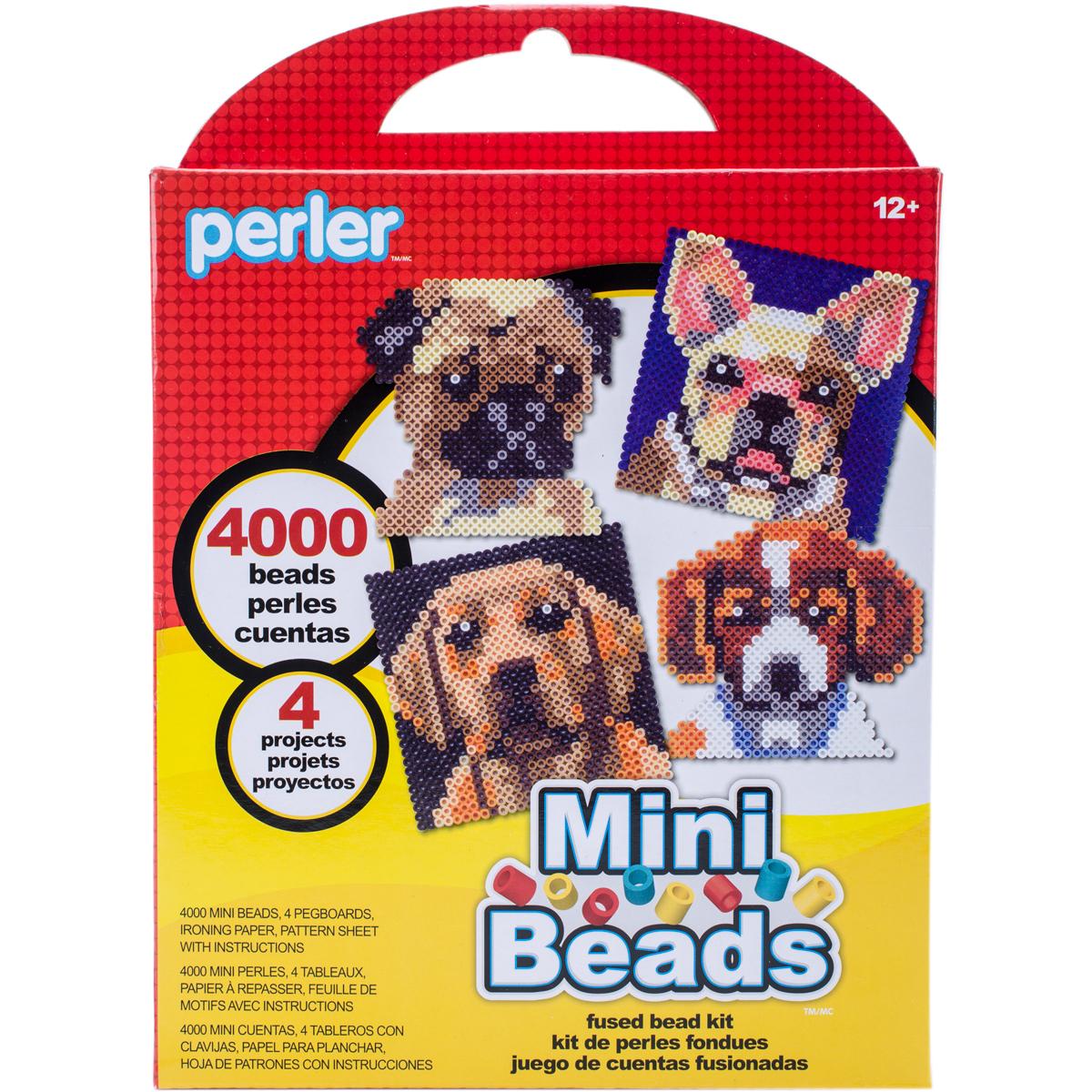 Perler Mini Beads Fused Bead Kit-Dogs