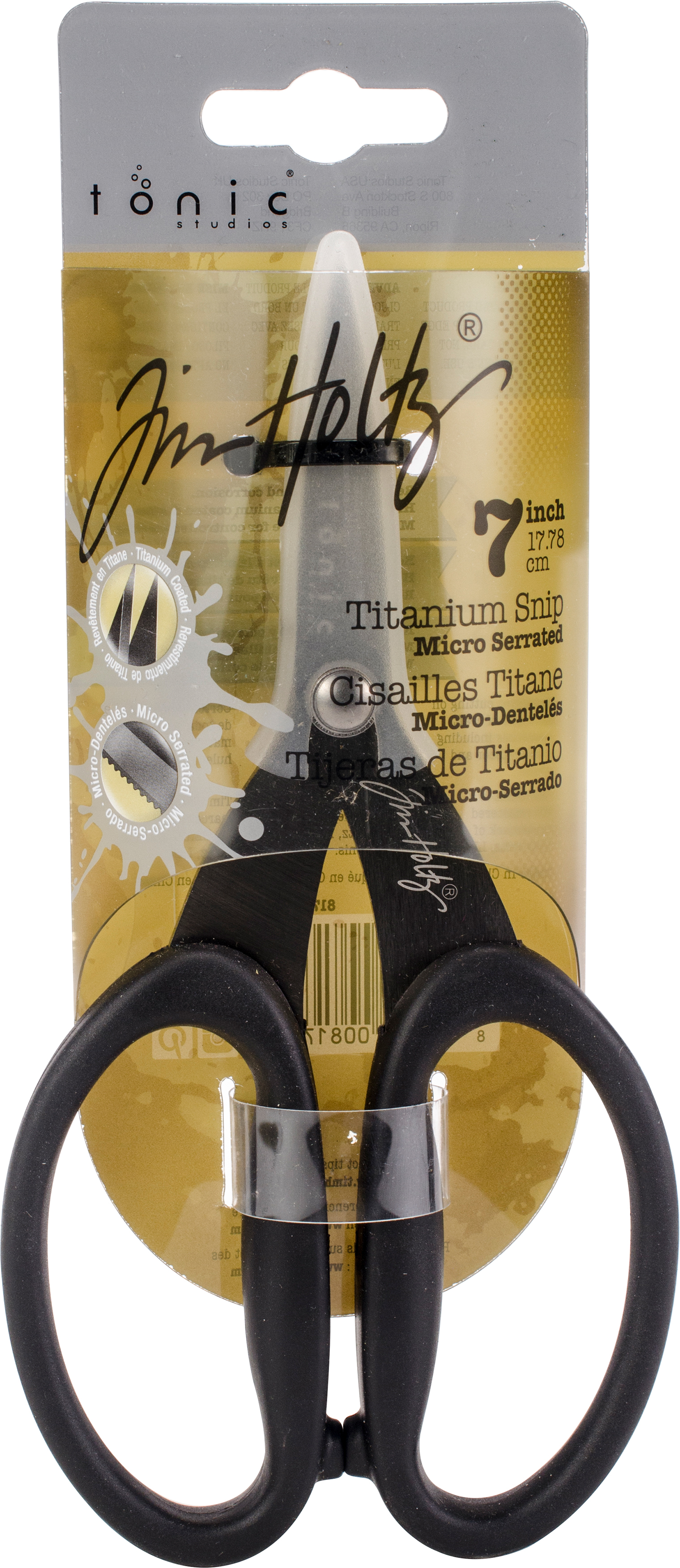 Tim Holtz Non-Stick Titanium Micro Serrated Scissors 7-