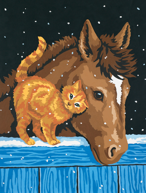 Paint Works Paint By Number Kit 9X12-Pony & Kitten