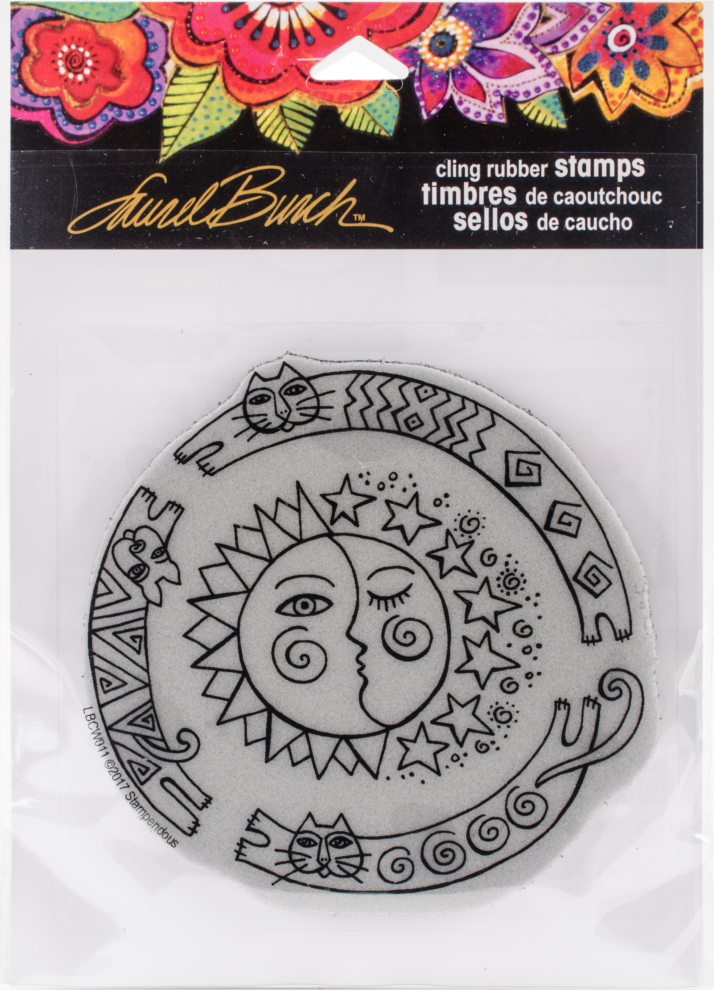 Stampendous Laurel Burch Cling Stamp -Sun Chase