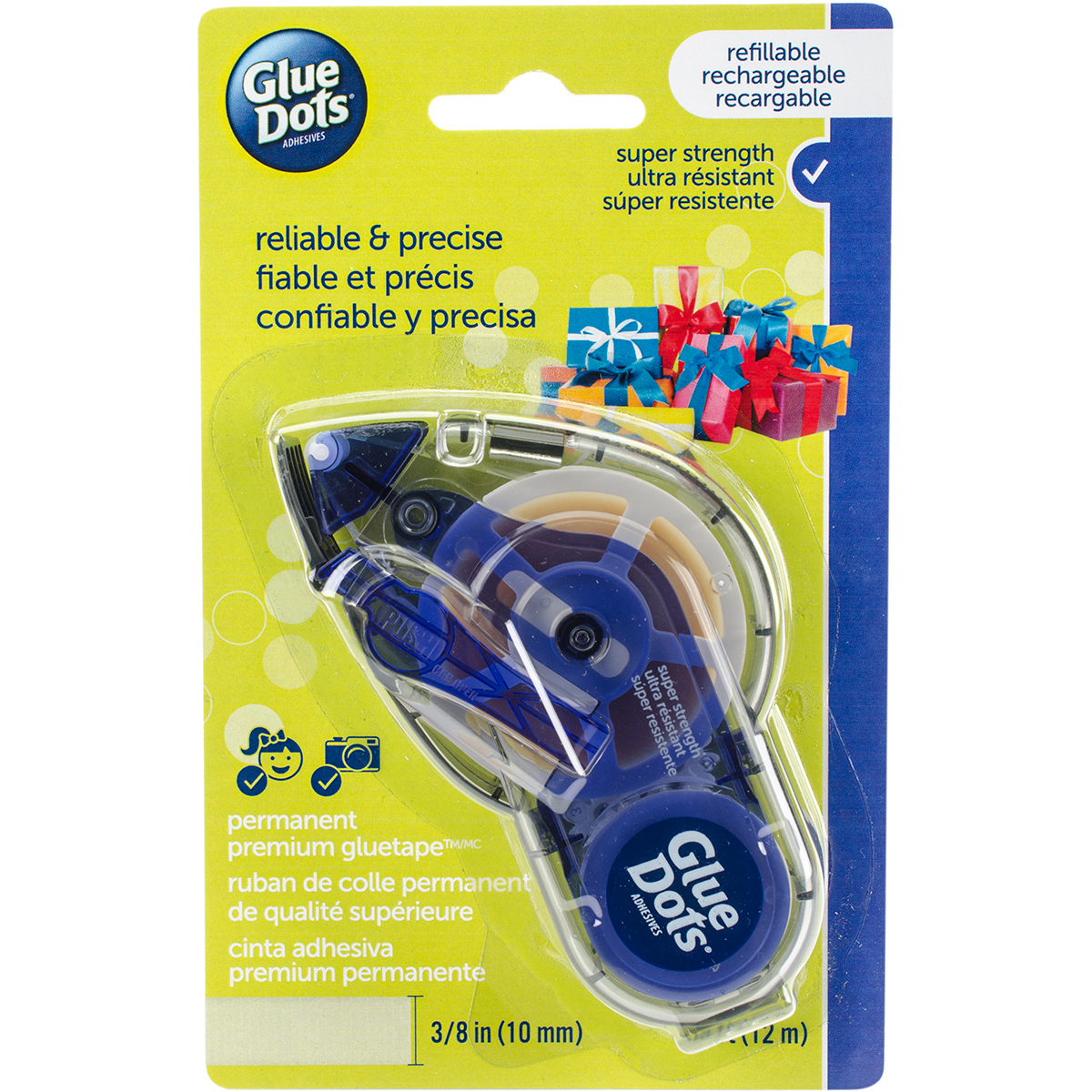 Glue Dots Refillable Runner 3/8