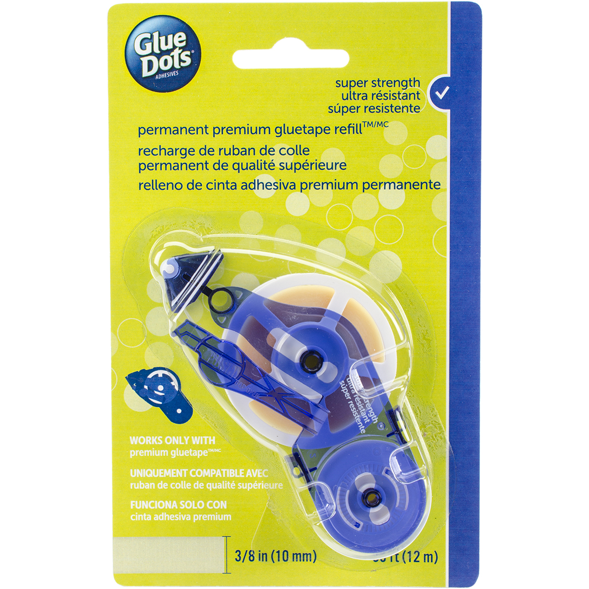Glue Dots Tape Refill-Permanent .375X39' For 41901 Runner
