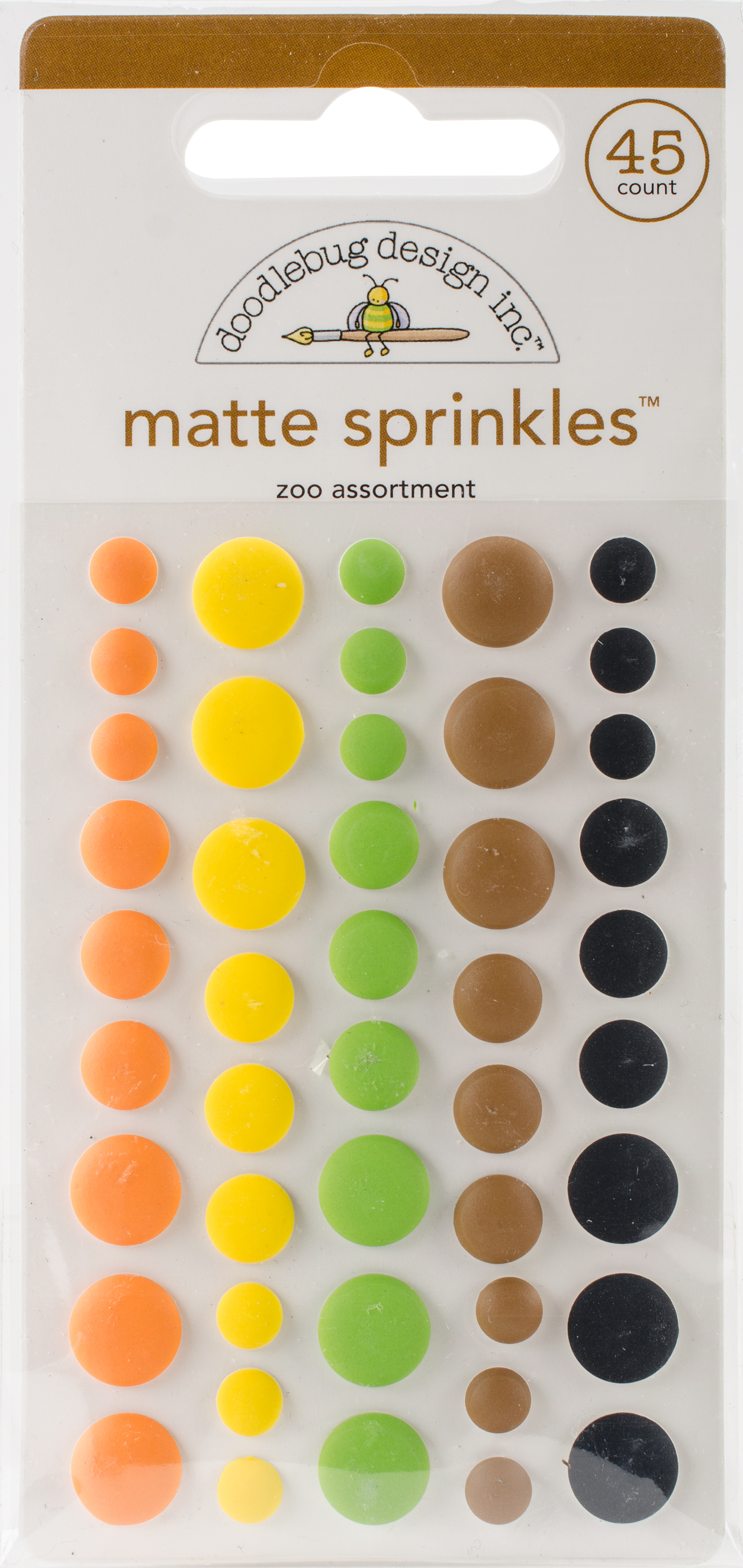 Doodlebug Matte Sprinkles Zoo