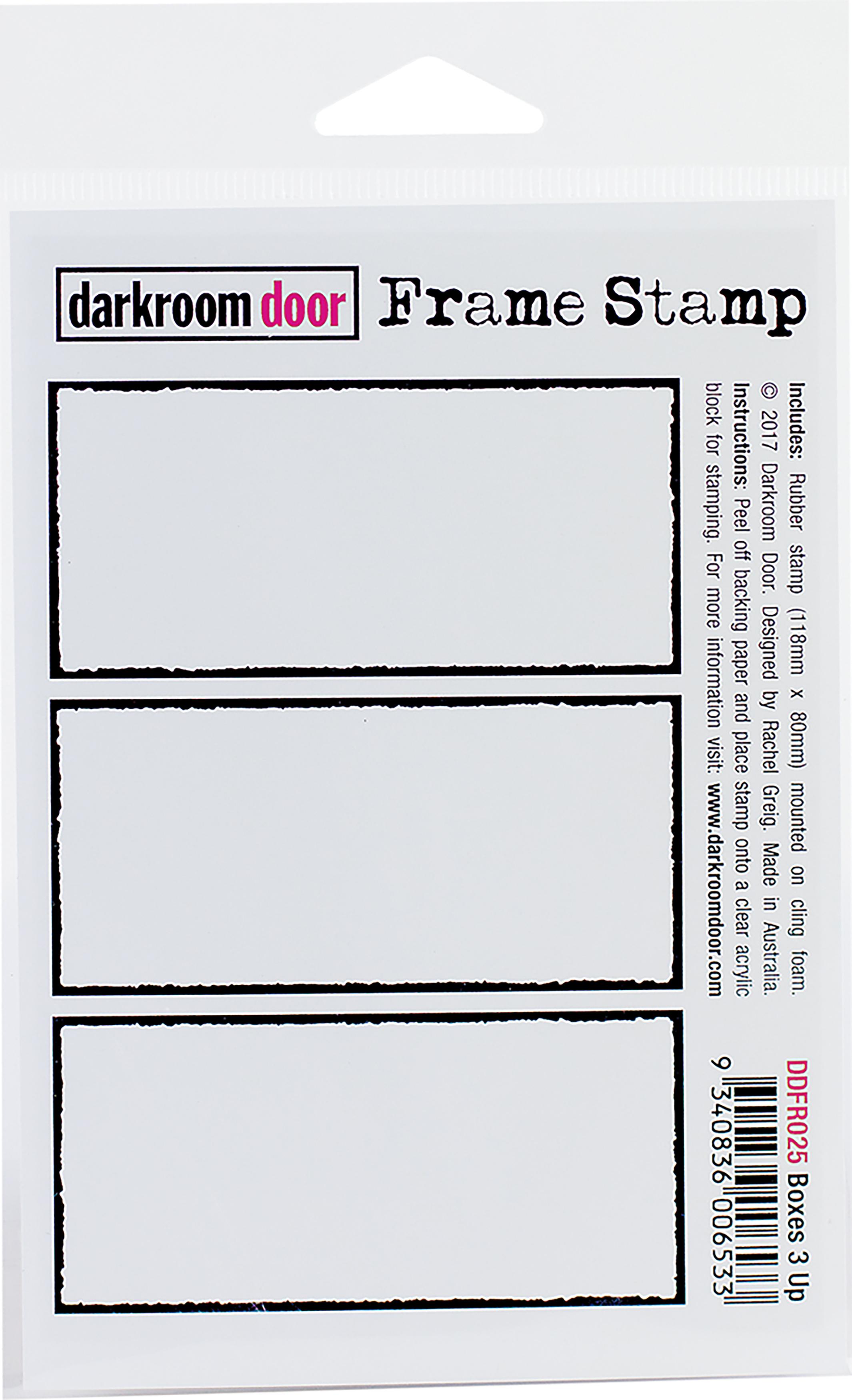 Darkroom Door Cling Stamp 4.5X3-Boxes 3 Up