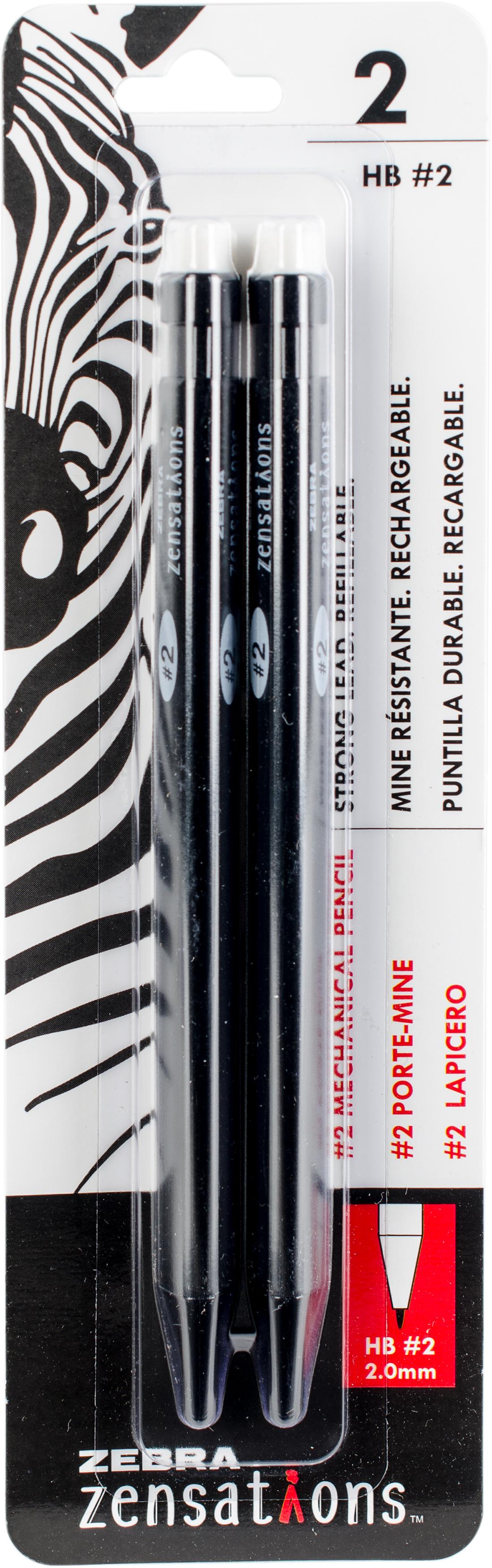 Zebra Zensations Mechanical #2 Pencils 2/Pkg-2.0mm