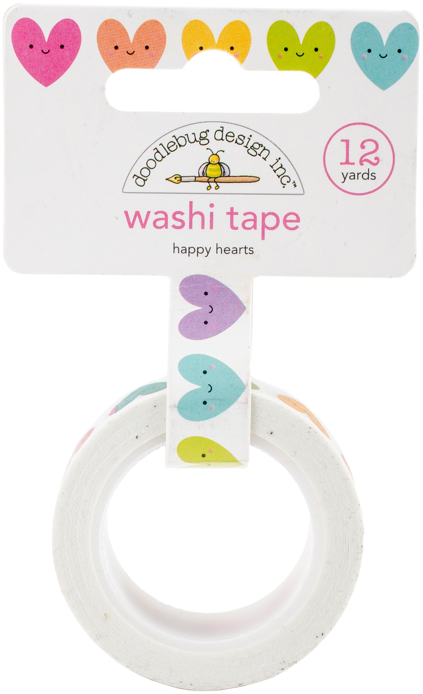 Doodlebug Washi Tape 15mmX12yd-Happy Hearts, Fairy Tales