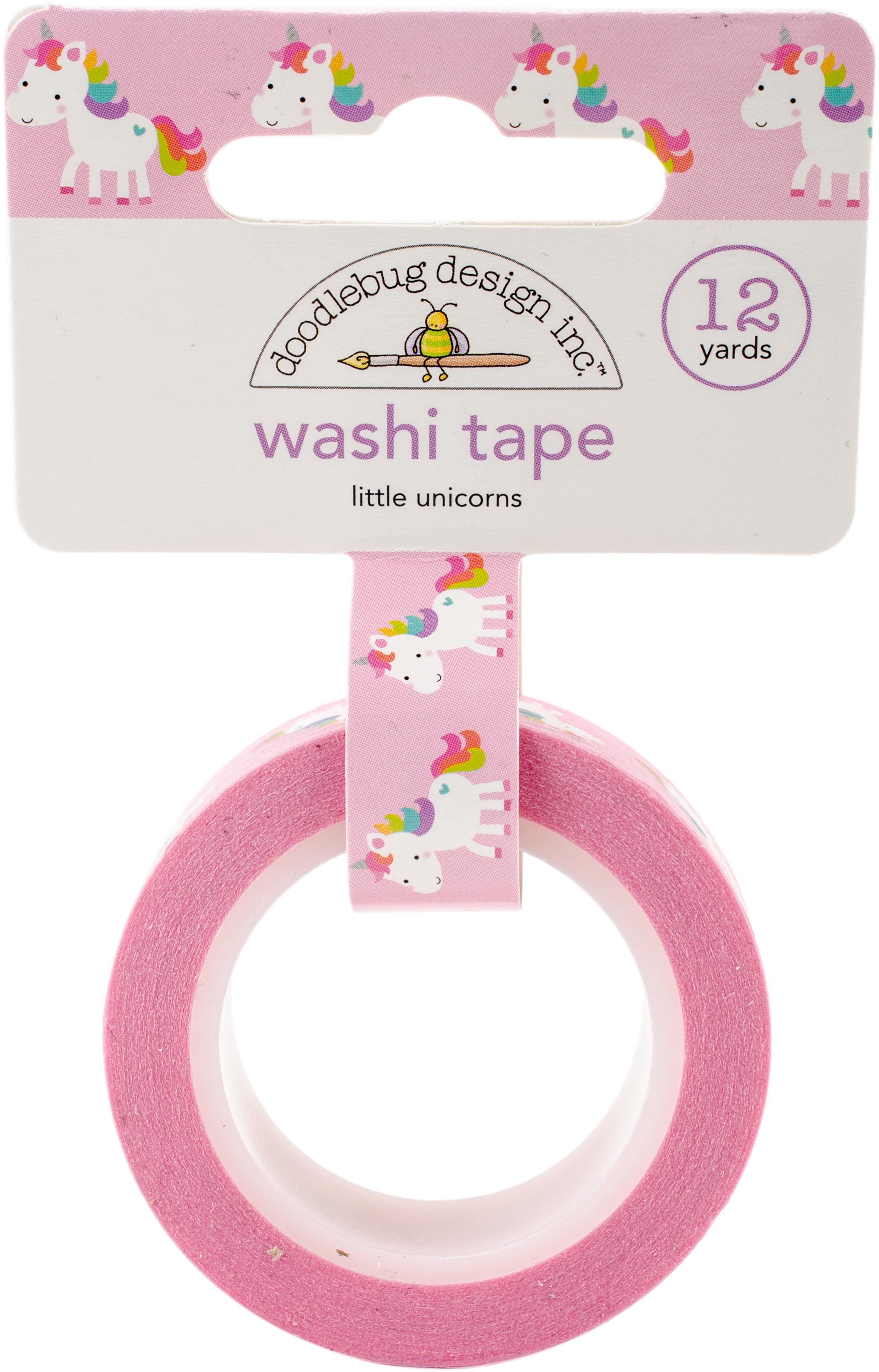 Doodlebug Washi Tape 15mmX12yd-Little Unicorns, Fairy Tales