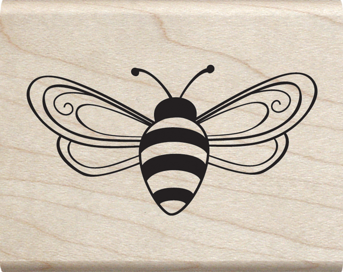 BEE       -MOUNTED STAMP
