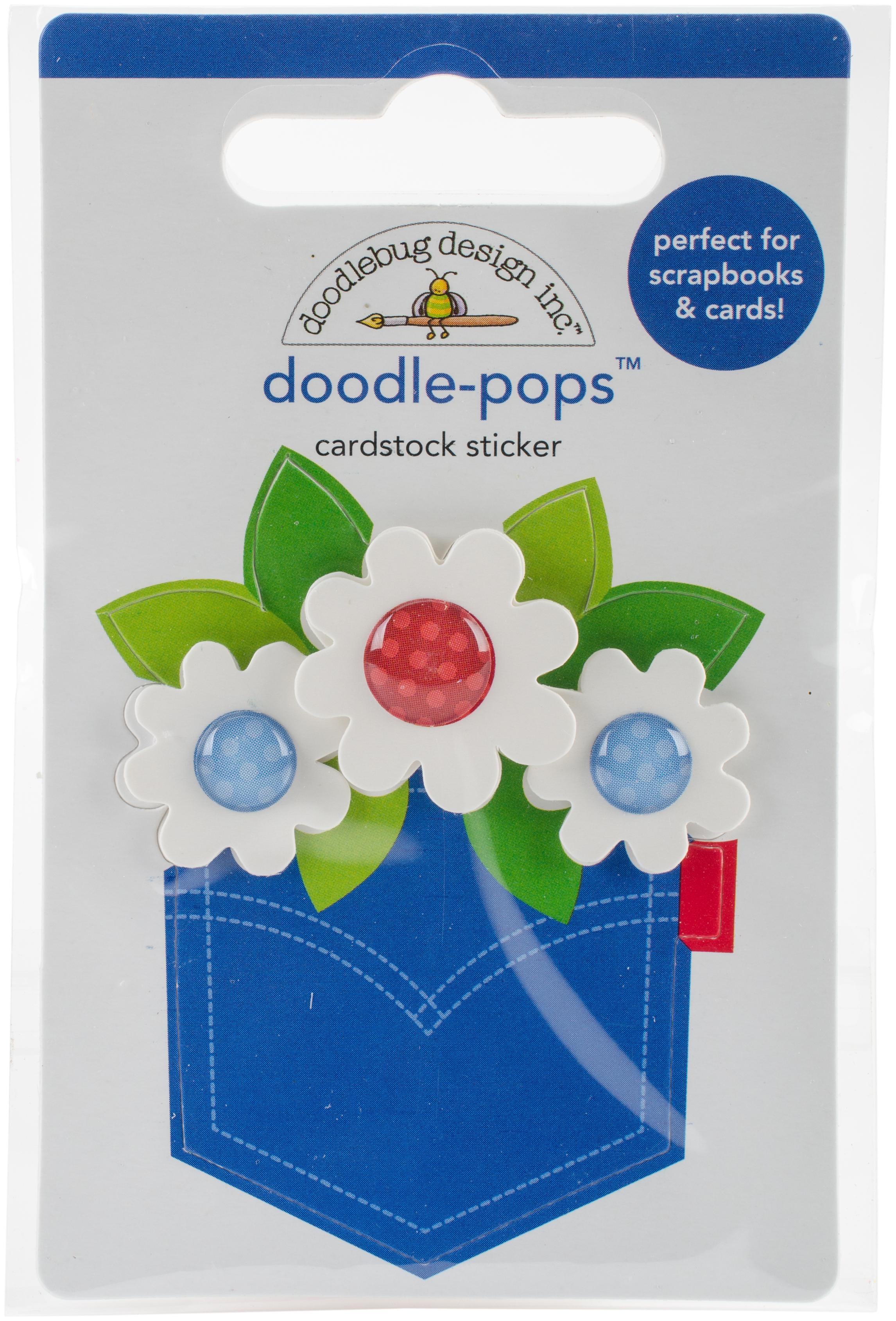 Doodlebug Doodle-Pops 3D Stickers-Pocket Full Of Posies