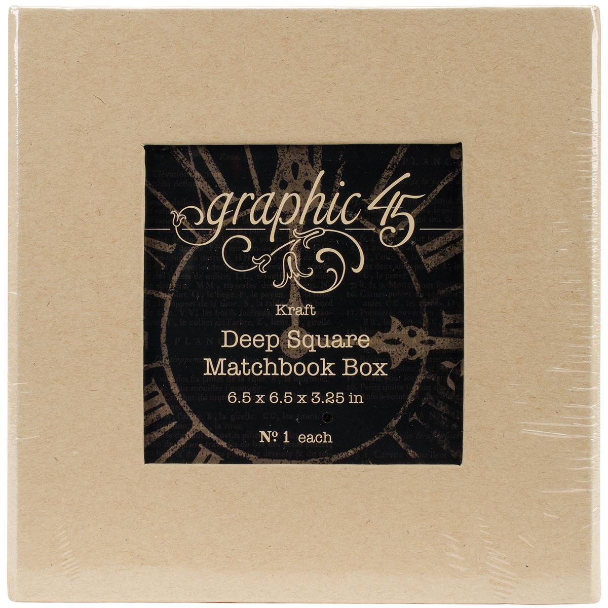 Graphic 45 Staples Deep Matchbook Box 6X6X3-Kraft