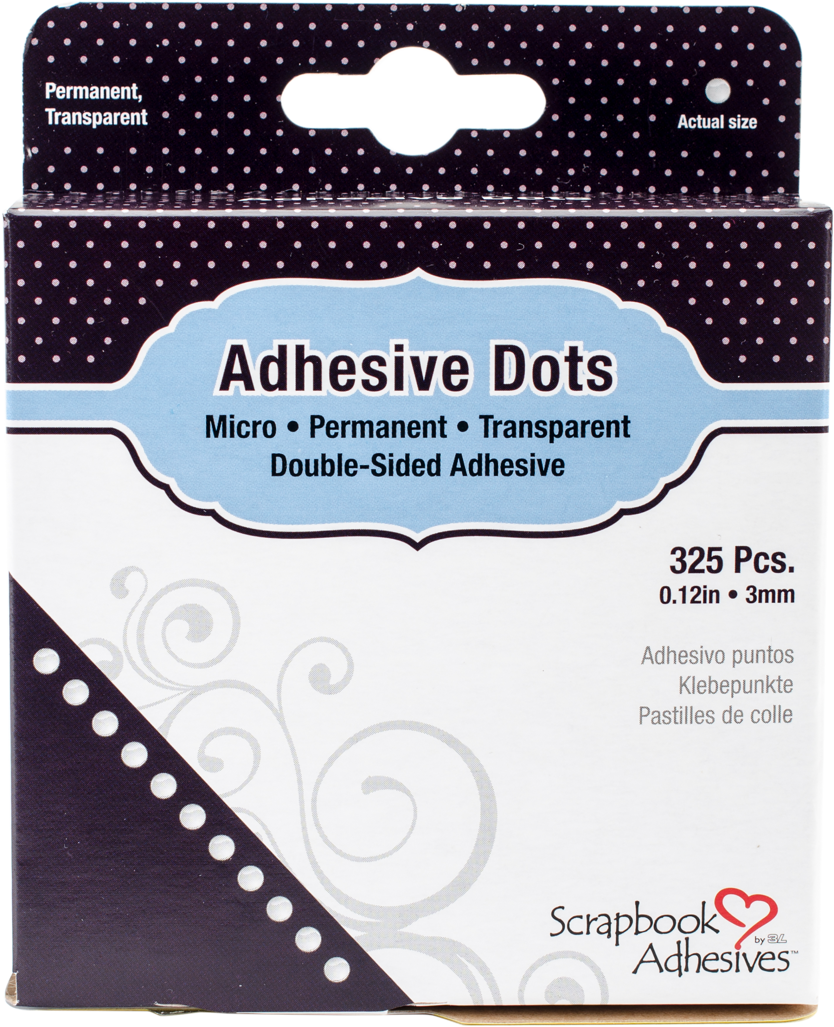 Scrapbook Adhesives Micro Dots 325/Pkg-Permanent .12