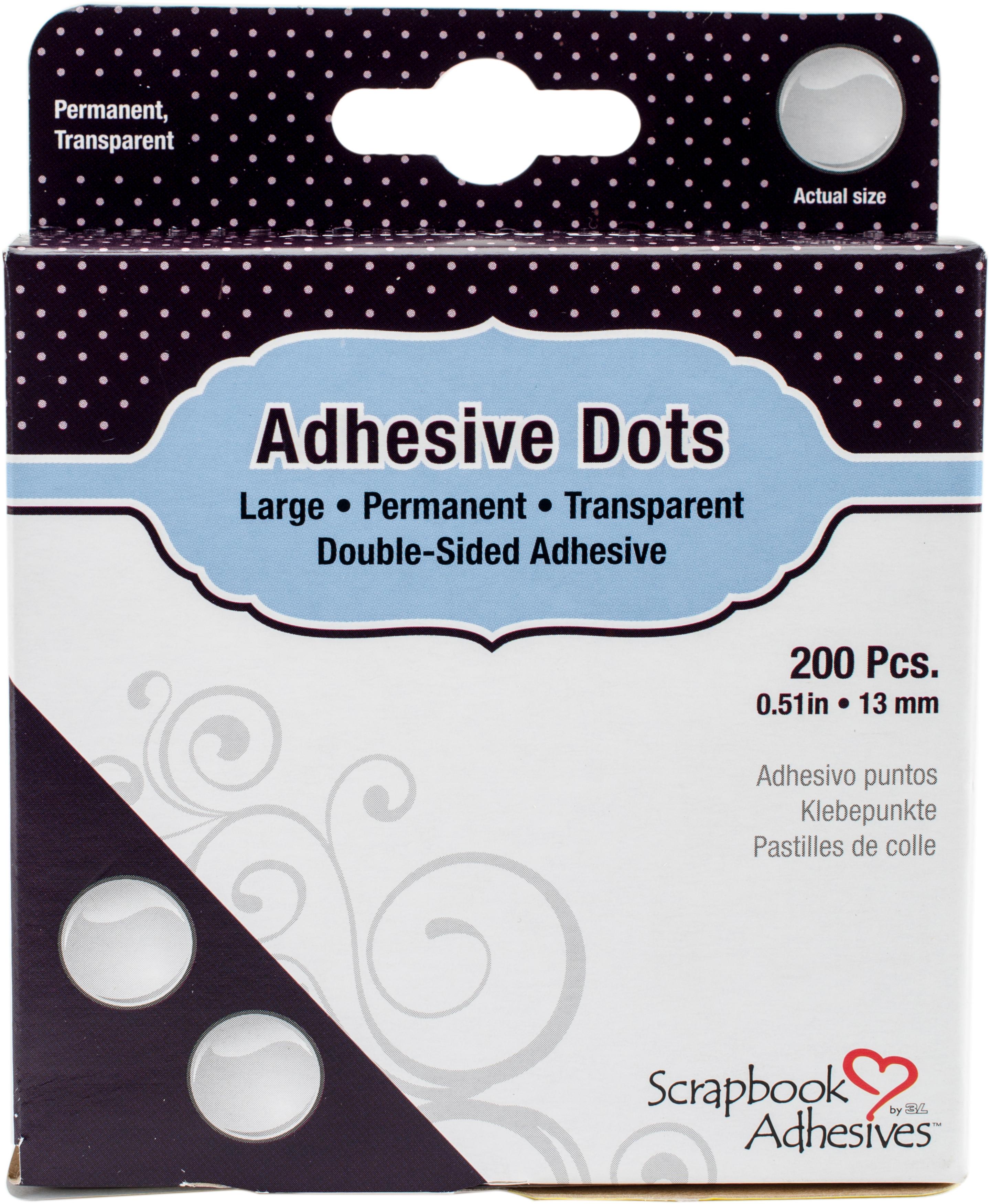 Scrapbook Adhesives Large Dots 200/Pkg-Permanent, .51