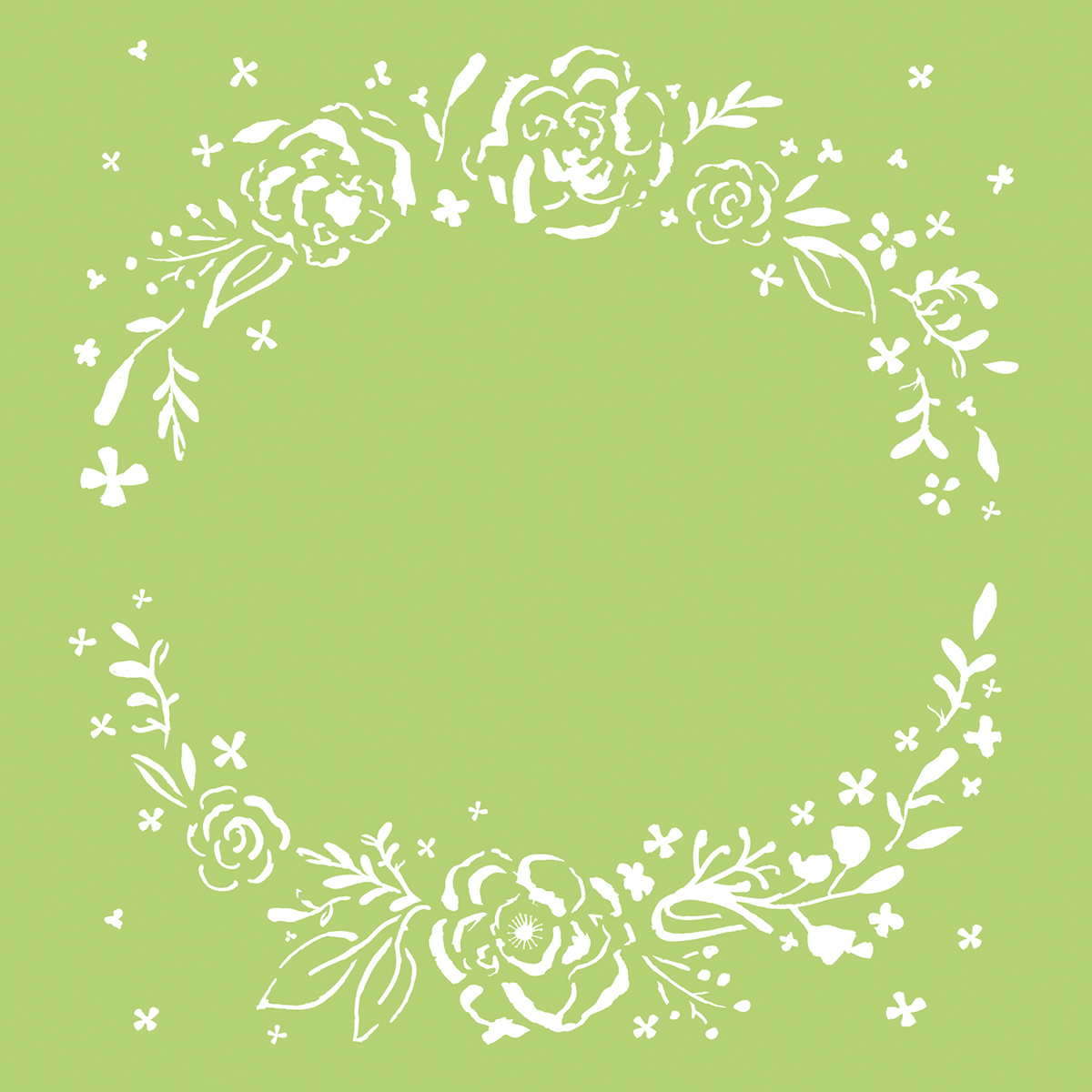 Kaisercraft Designer Template 6X6-Floral Wreath