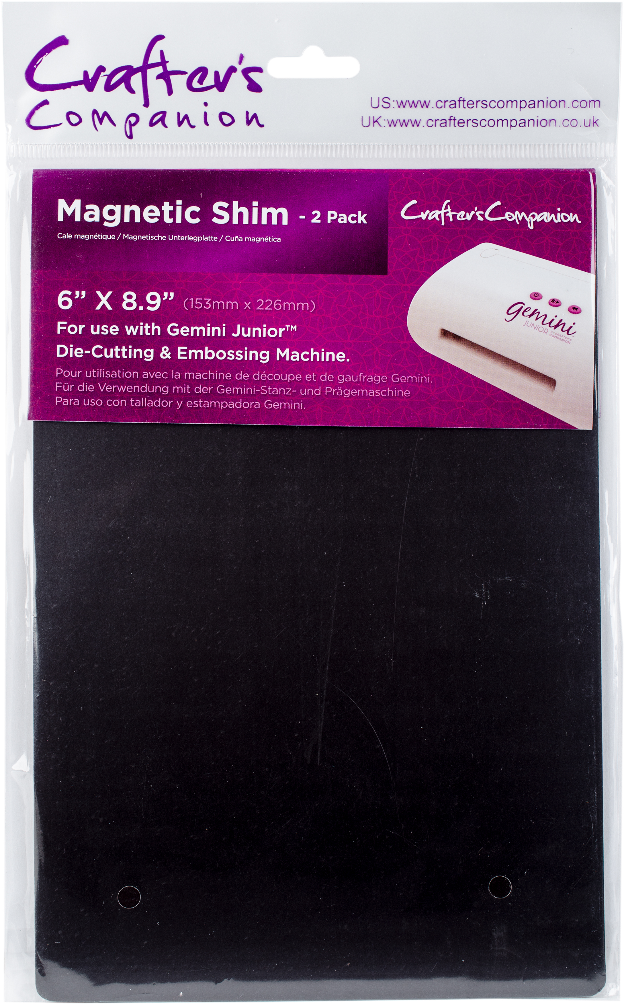 Crafter's Companion Gemini Junior Magnetic Shim 6X9 2/Pkg-