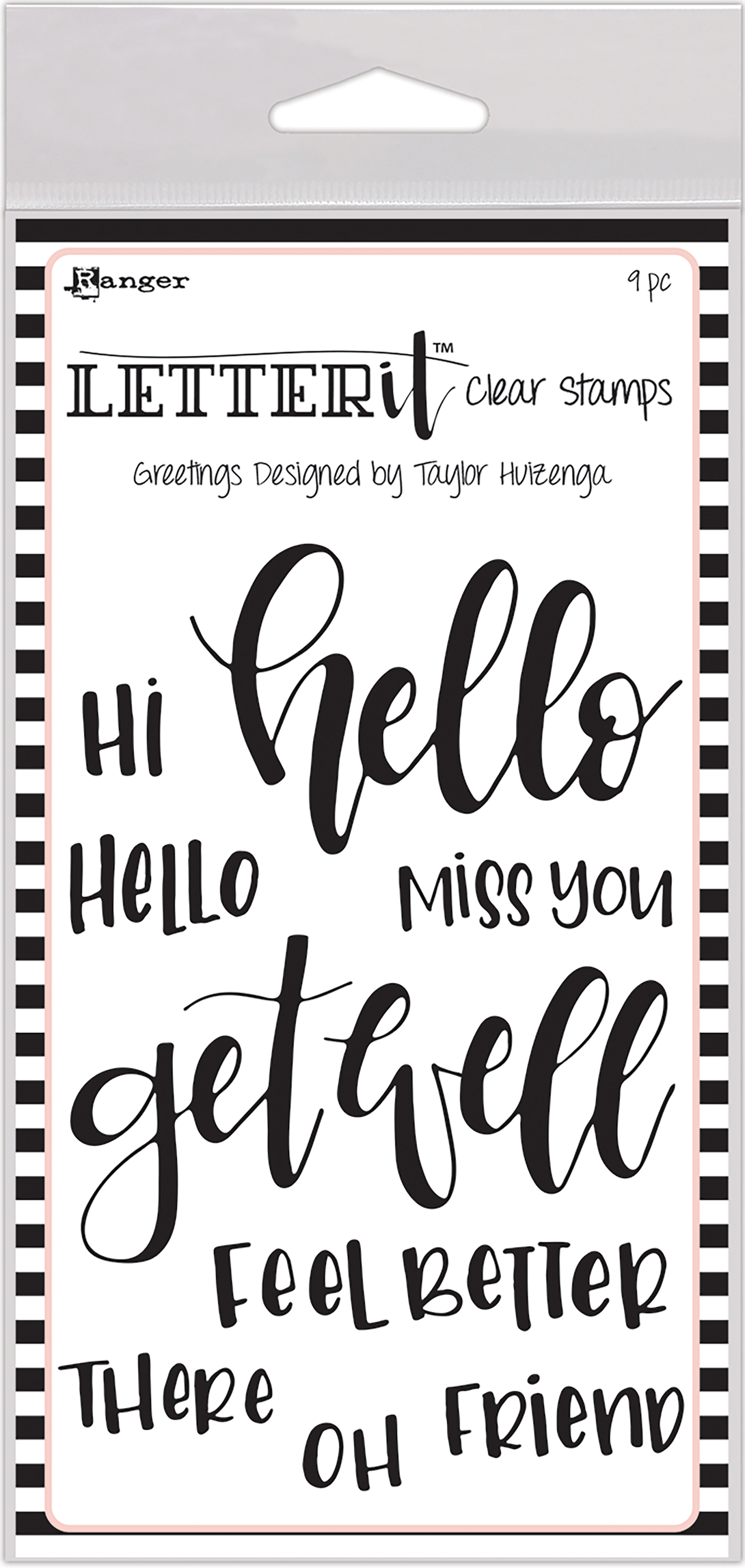 Ranger Letterit Clear Stamps - Greetings - Stamp