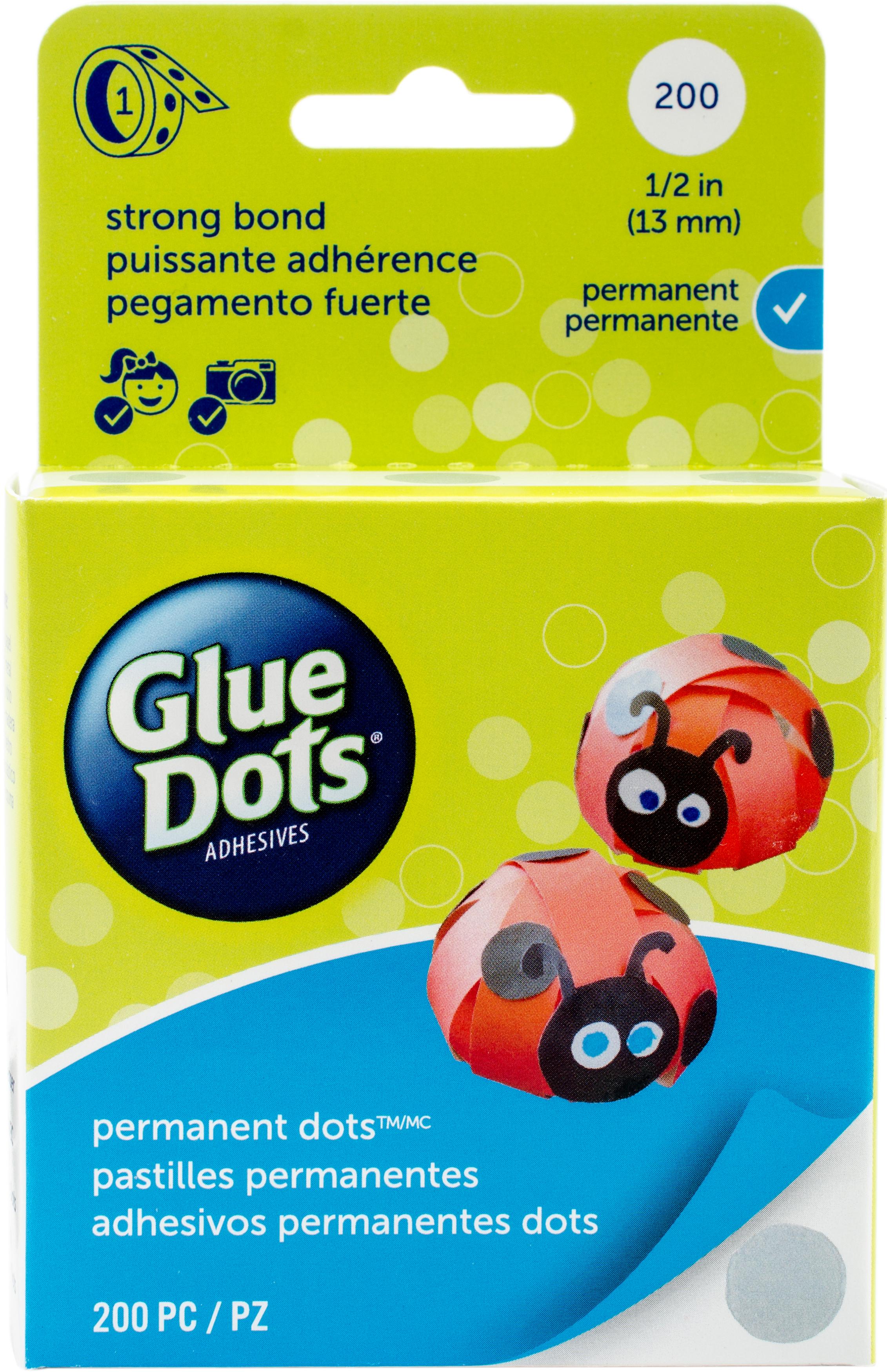Glue Dots Clear Dot Roll-Permanent .5 200/Pkg