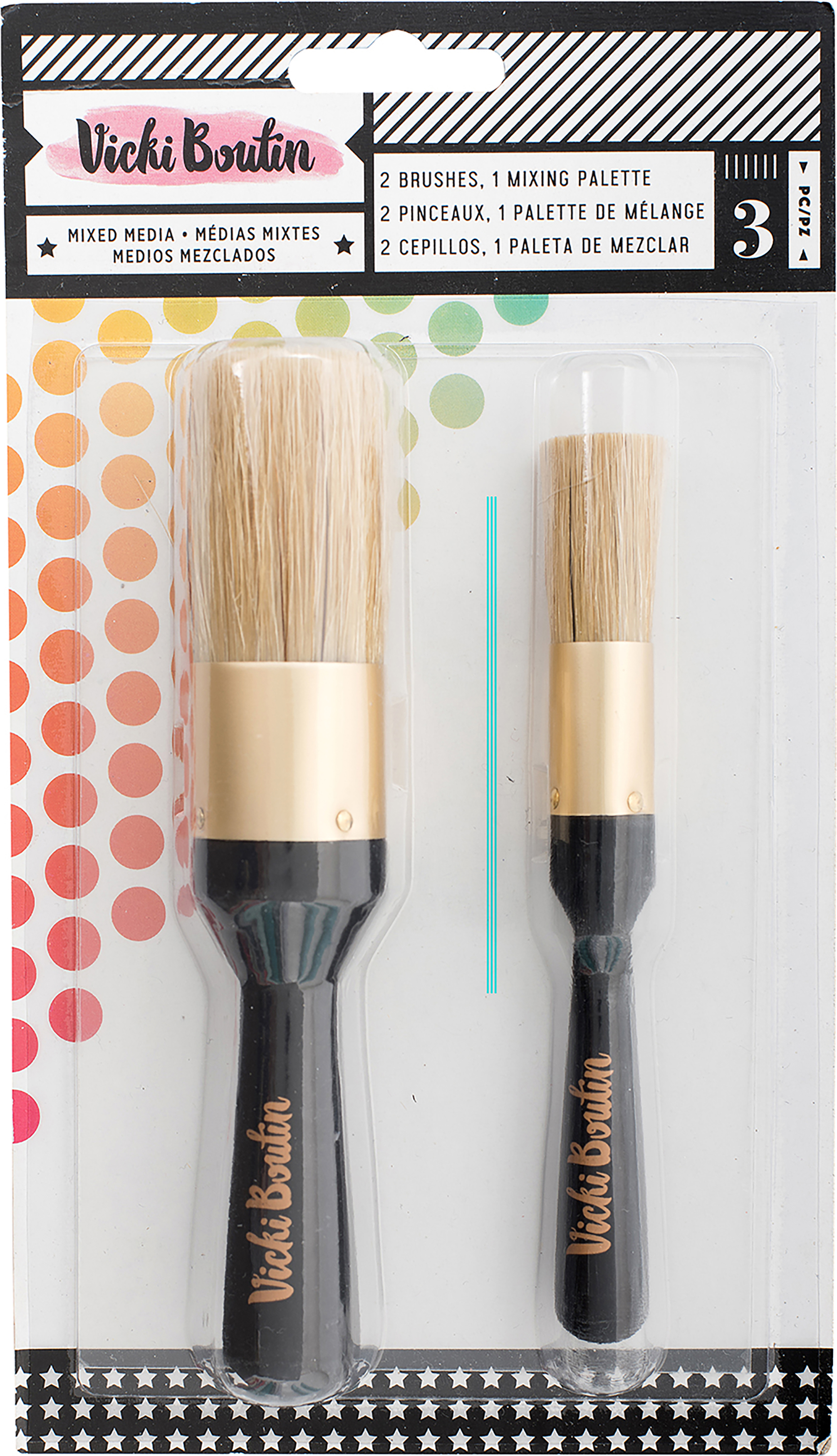 Vicki Boutin Mixed Media Stencil Brush Set -All The Good Things