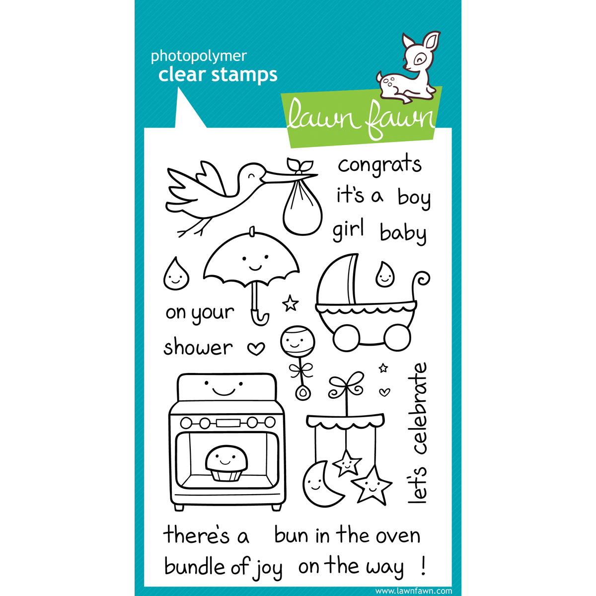 Lawn Fawn Clear Stamps 4X6-Plus 1