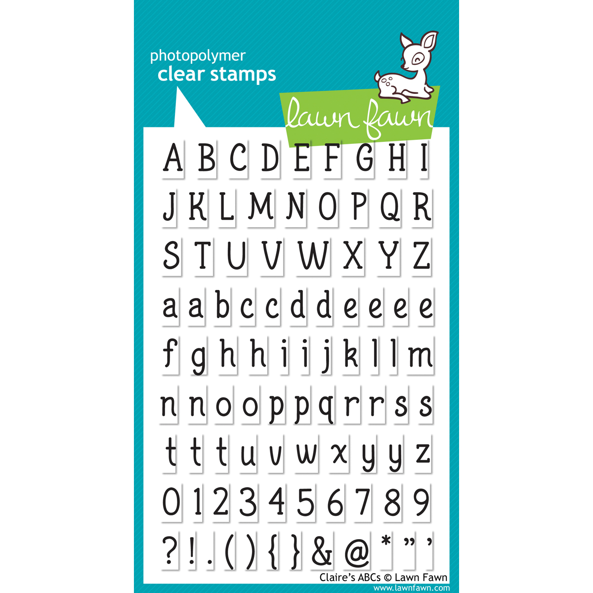 Lawn Fawn Clear Stamps 4X6-Claire's ABCs