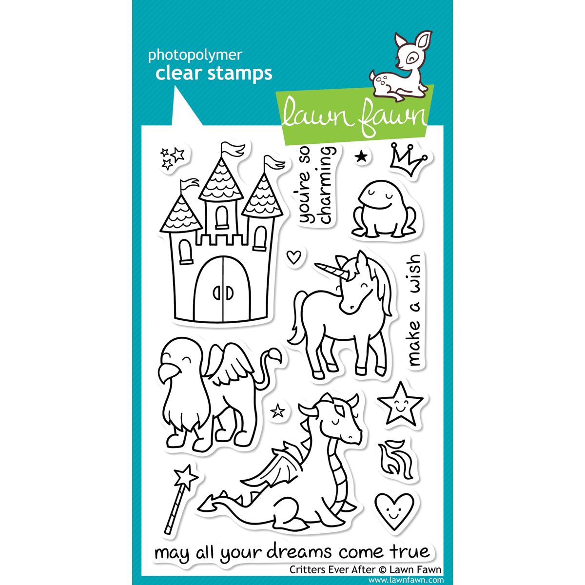 Lawn Fawn Clear Stamps 4X6-Critters Ever After