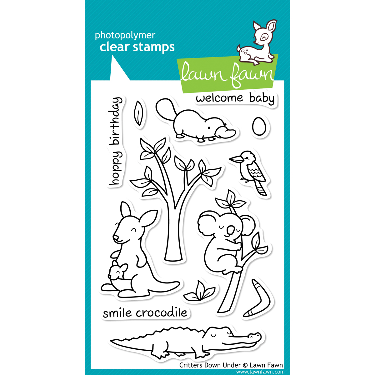 Lawn Fawn Clear Stamps 4X6-Critters Down Under