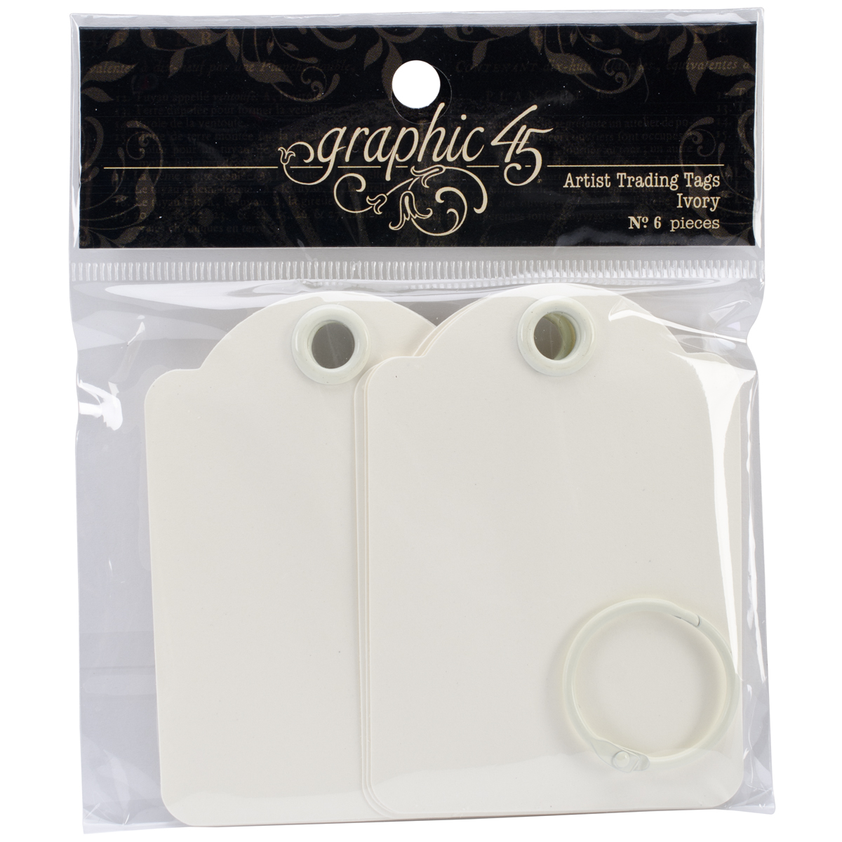 Graphic 45 Staples Artist Trading Tag Album 3.5X2.5-Ivory