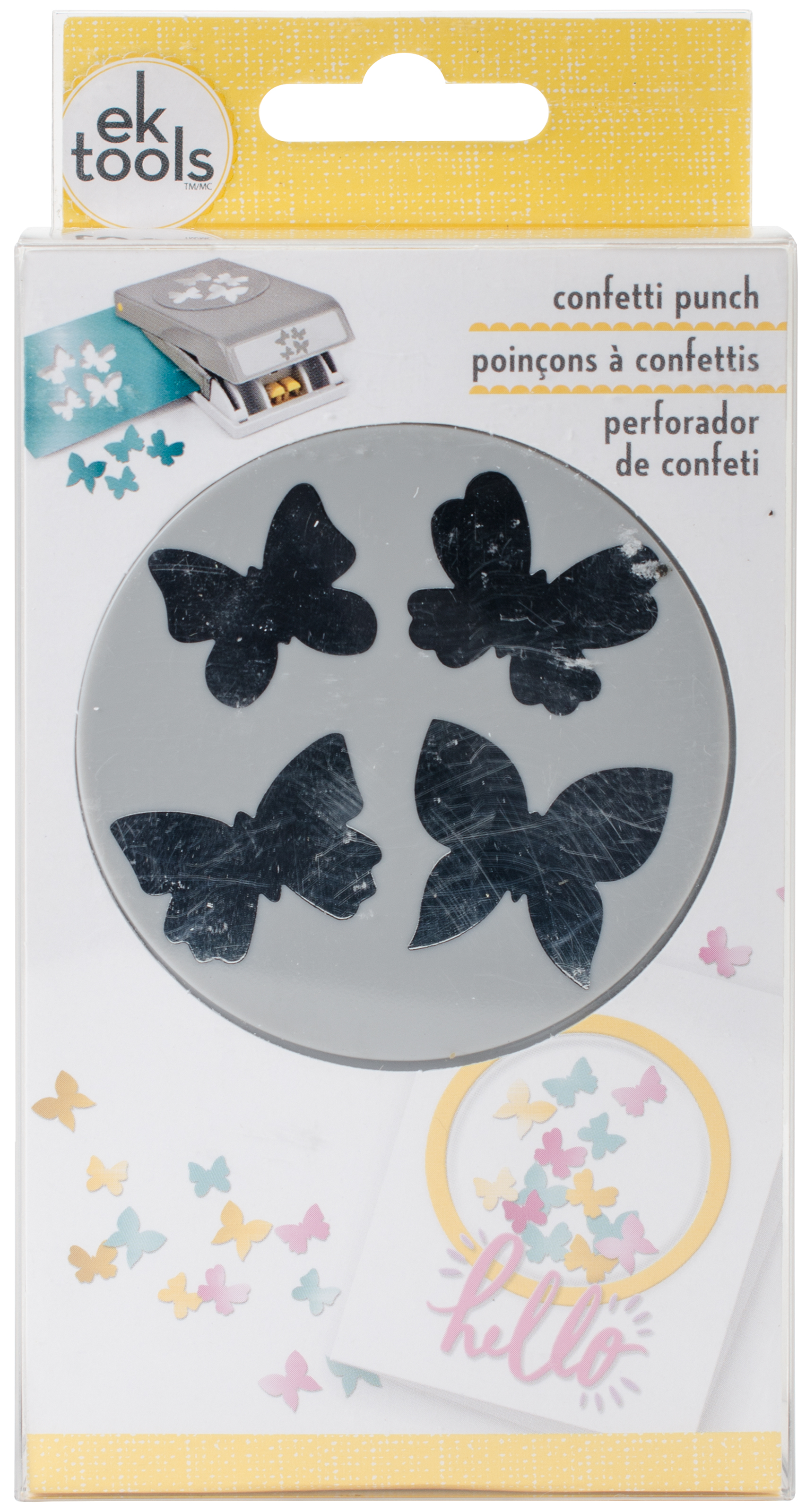 Large Punch-Confetti Butterfly