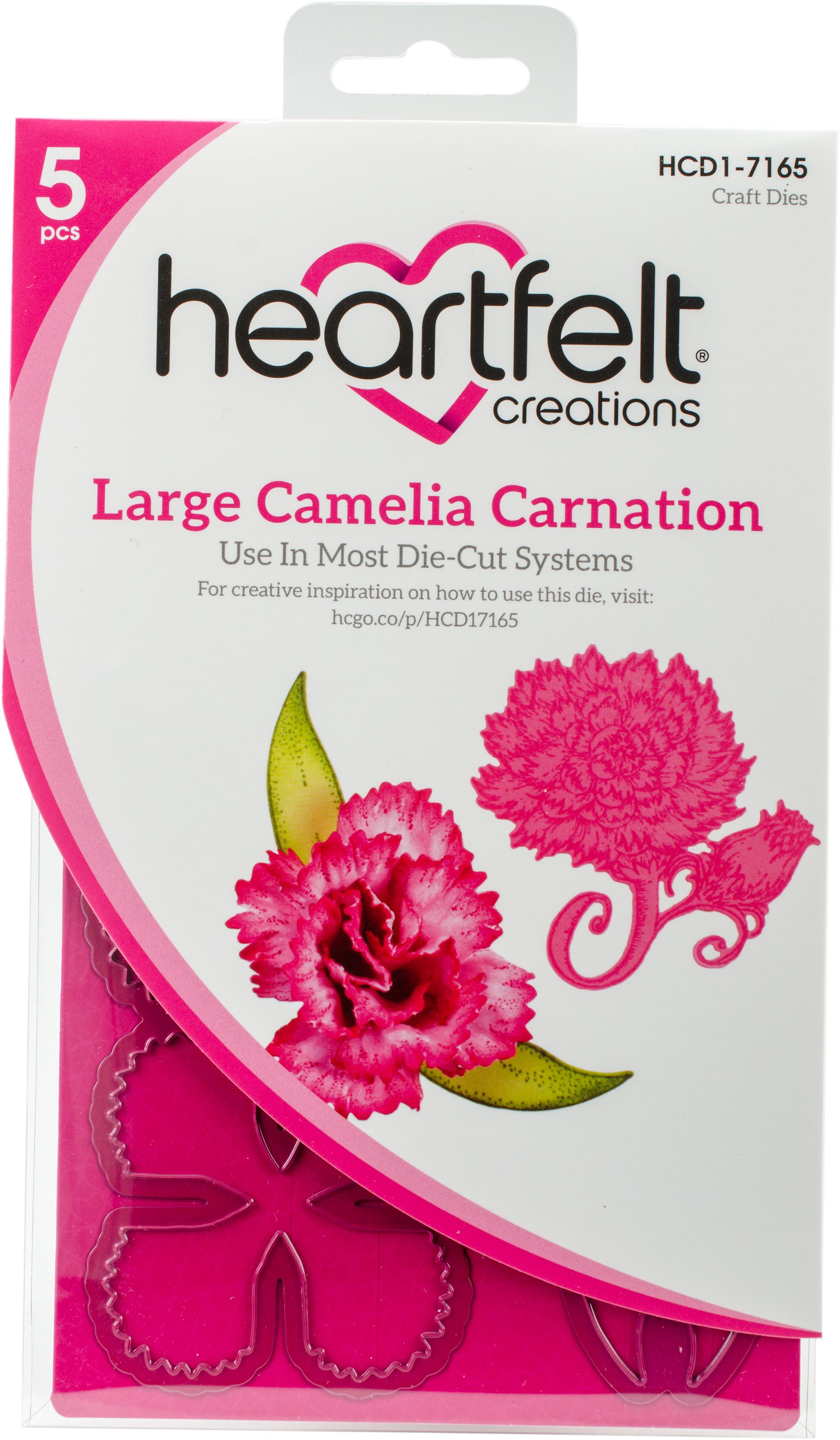 Large Camelia Carnation Die