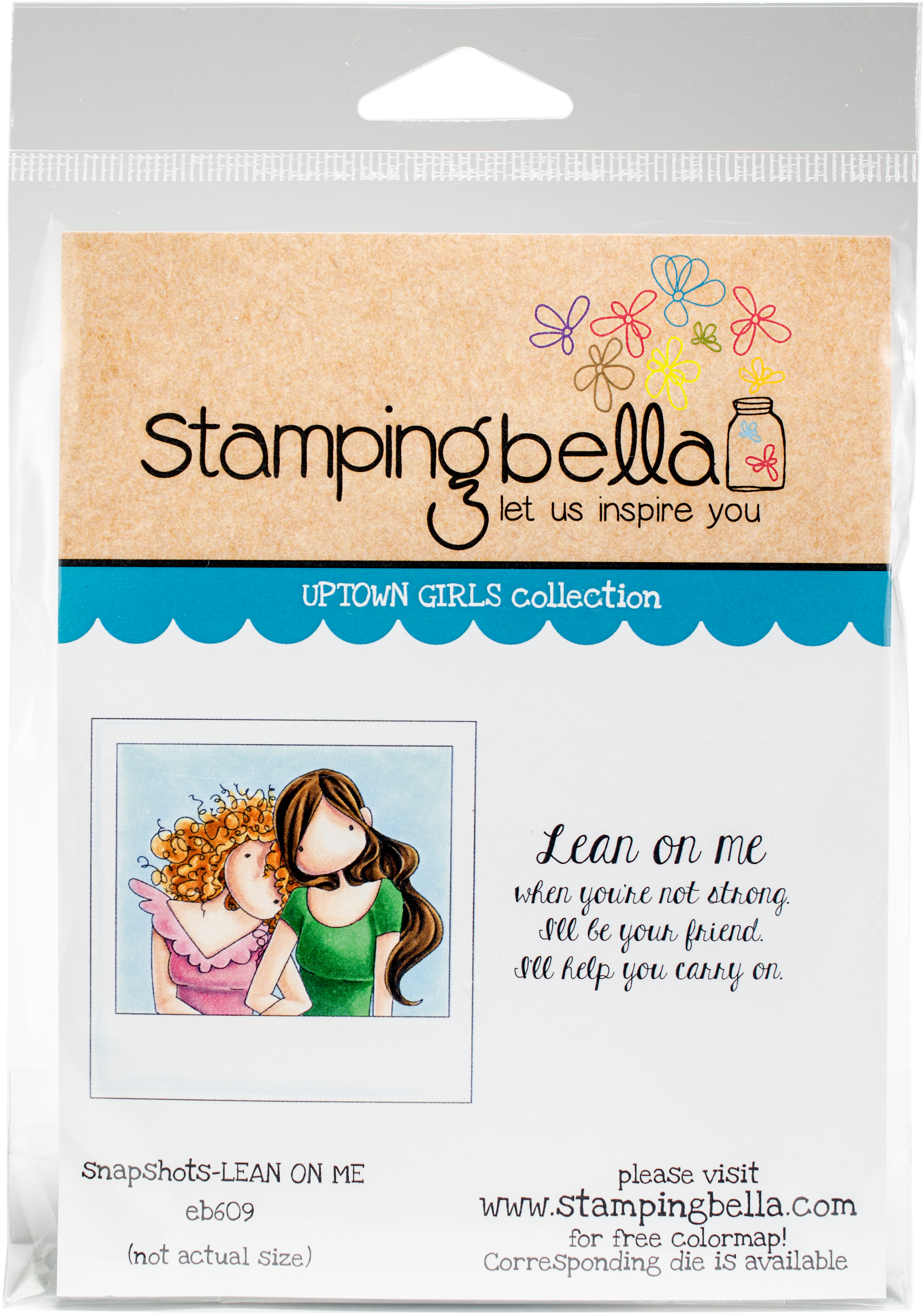 ^Stamping Bella Uptown Girls Rubber Stamp Set Snapshots Lean on Me (eb609)