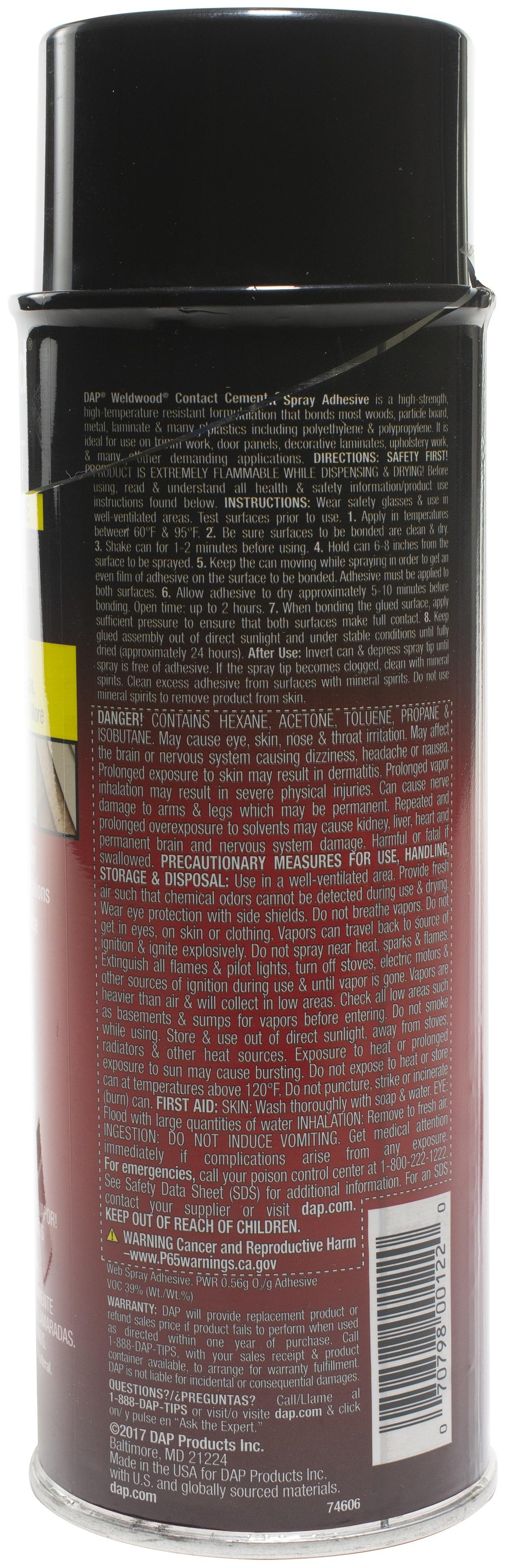 DAP High Strength Contact Adhesive Spray-16oz