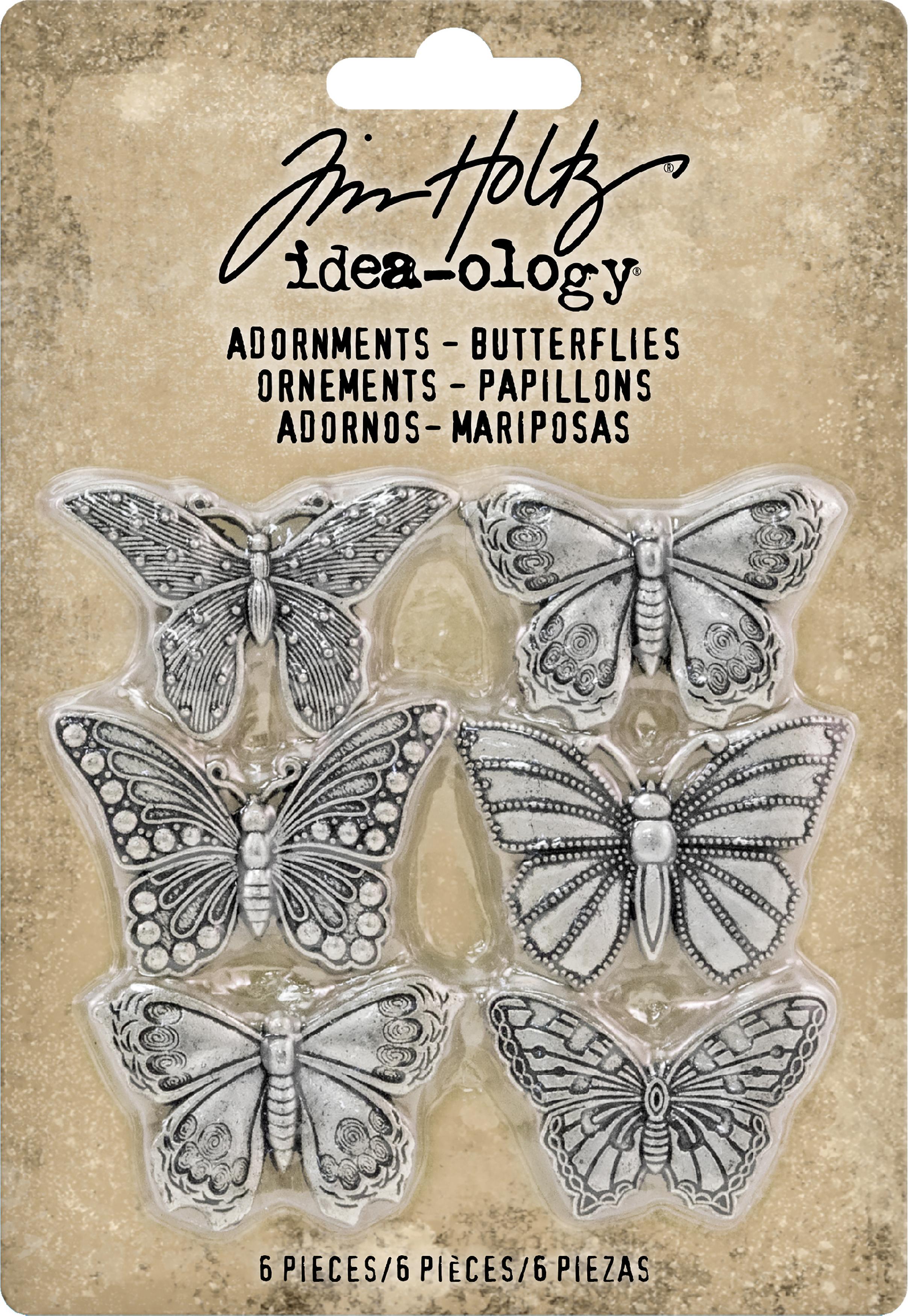 Idea-Ology Metal Adornments 1 6/Pkg-Butterflies