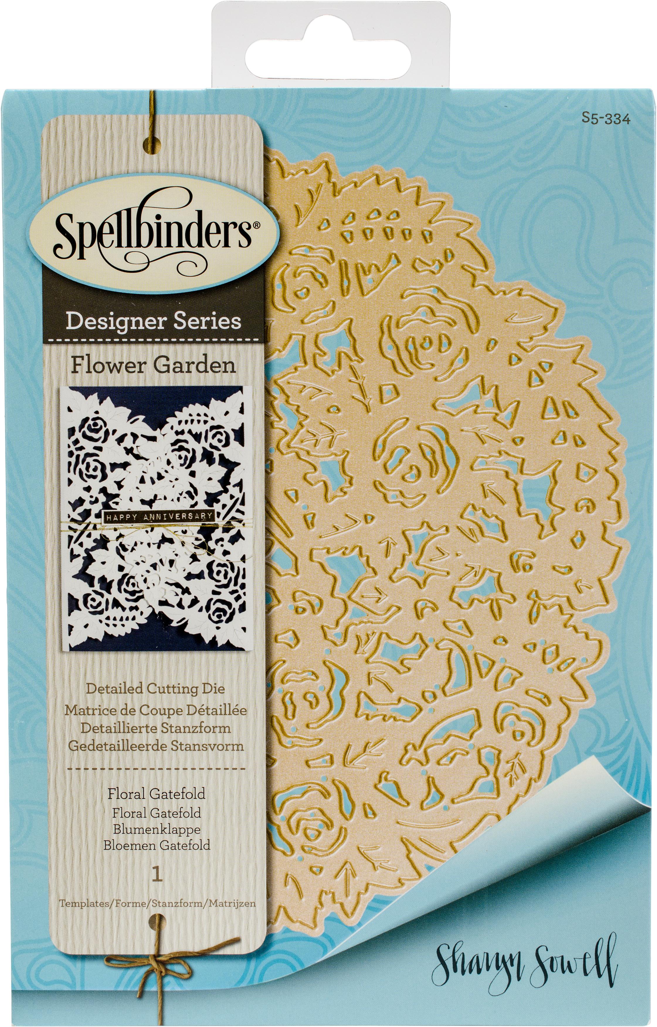 ^Spellbinders - Designer Series - Floral Gatefold