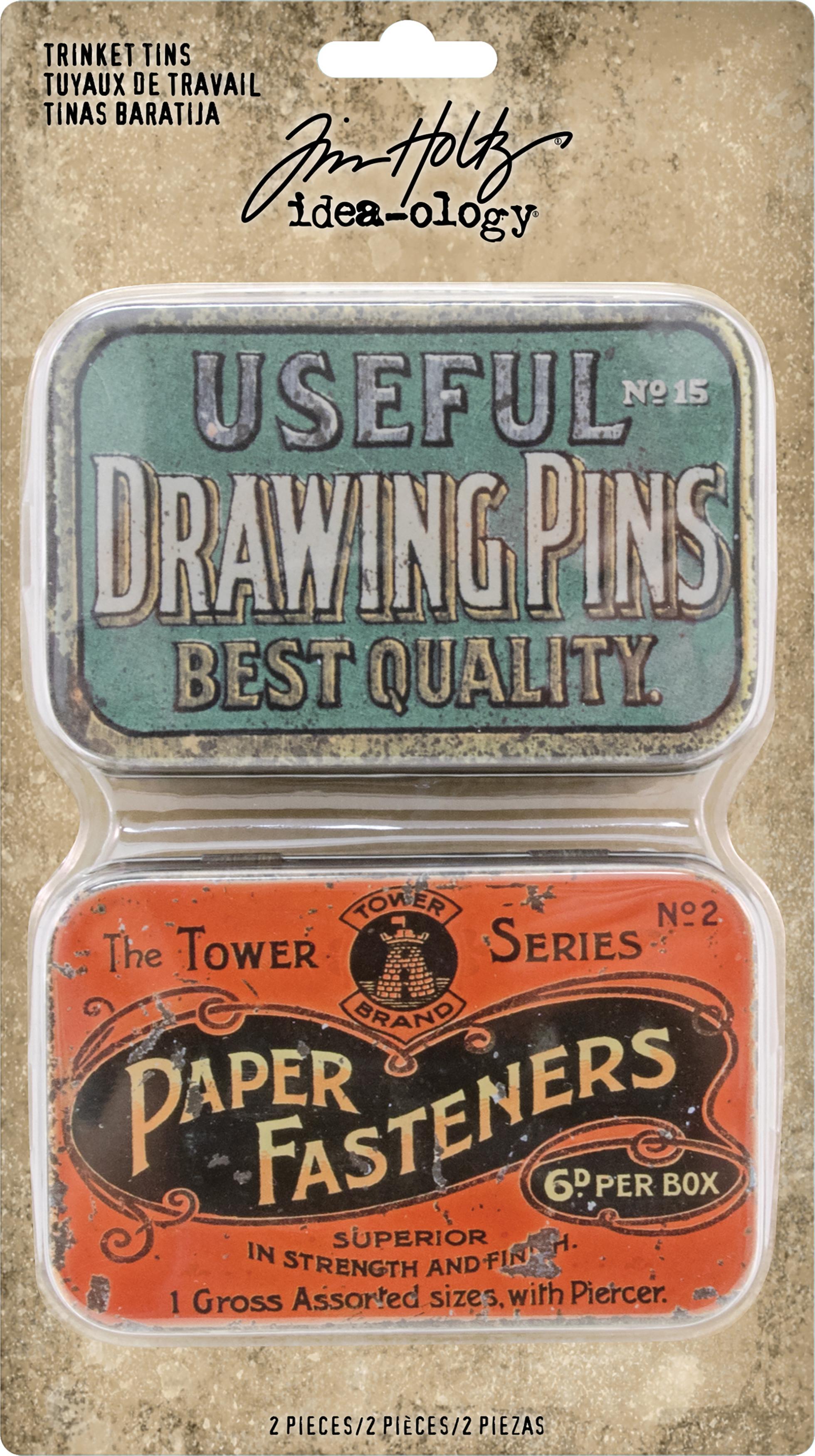 Idea-Ology Metal Trinket Tins 2/Pkg-