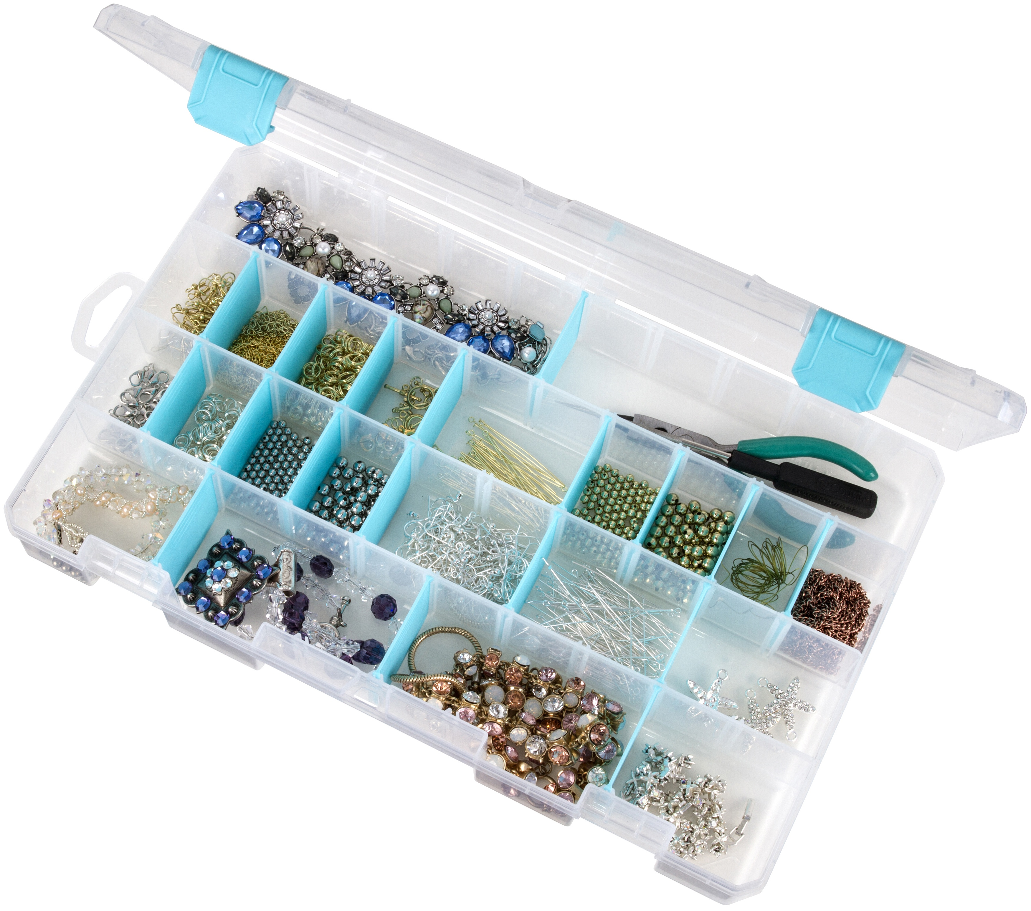 ArtBin Anti-Tarnish Solutions Box 4-15 Compartments-14X8.5X2 Translucent