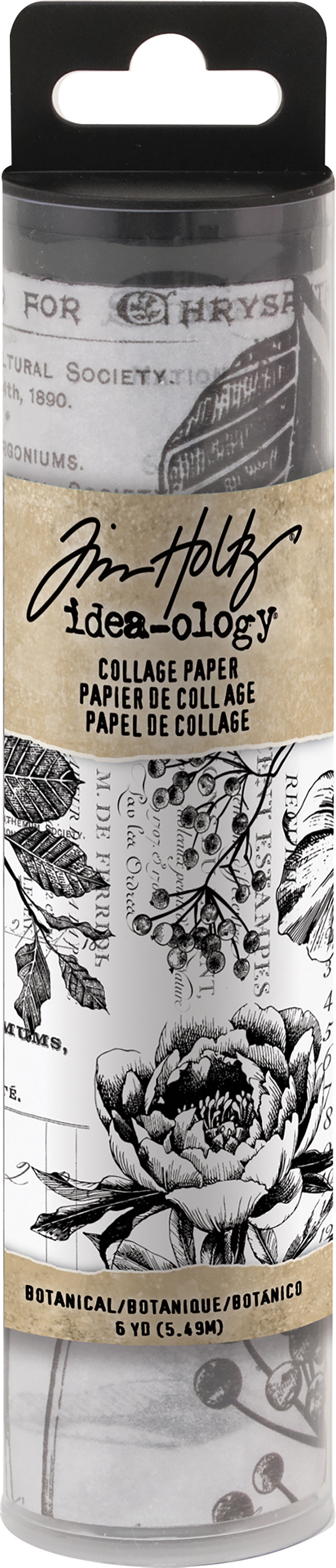Idea-Ology Collage Paper 6X6yds-Botanical