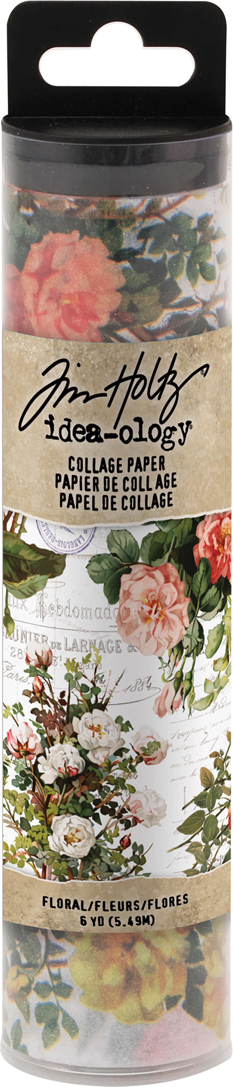 Idea-Ology Collage Paper 6X6yds-Floral