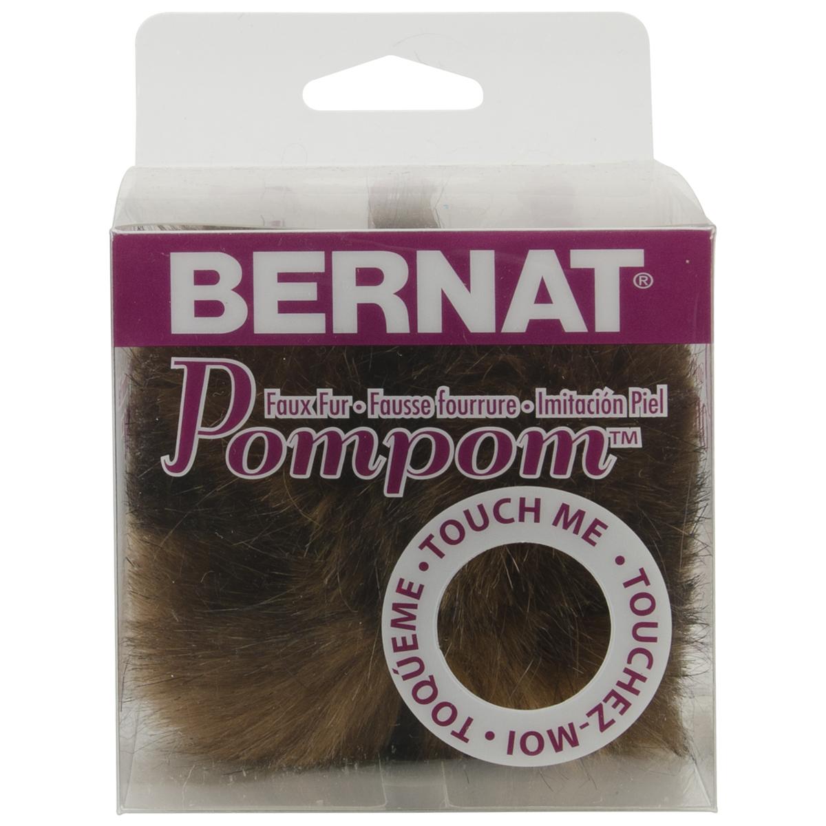 Bernat Faux Fur Pompom 1/Pkg-Assorted Colours
