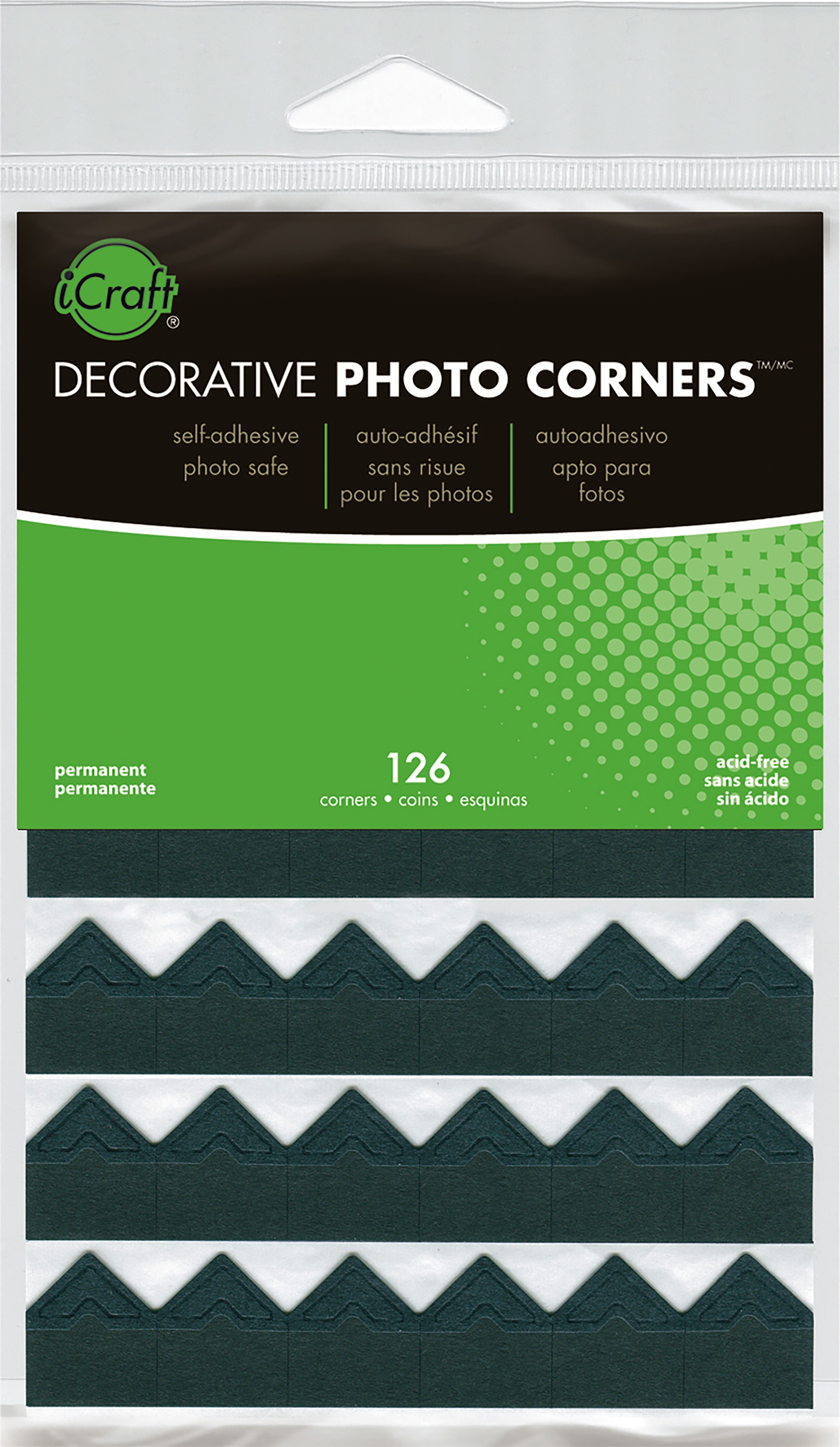 Icraft Black Photo Corners