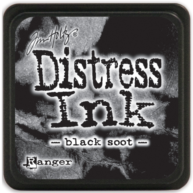 Tim Holtz Distress Mini Ink Pad-Black Soot