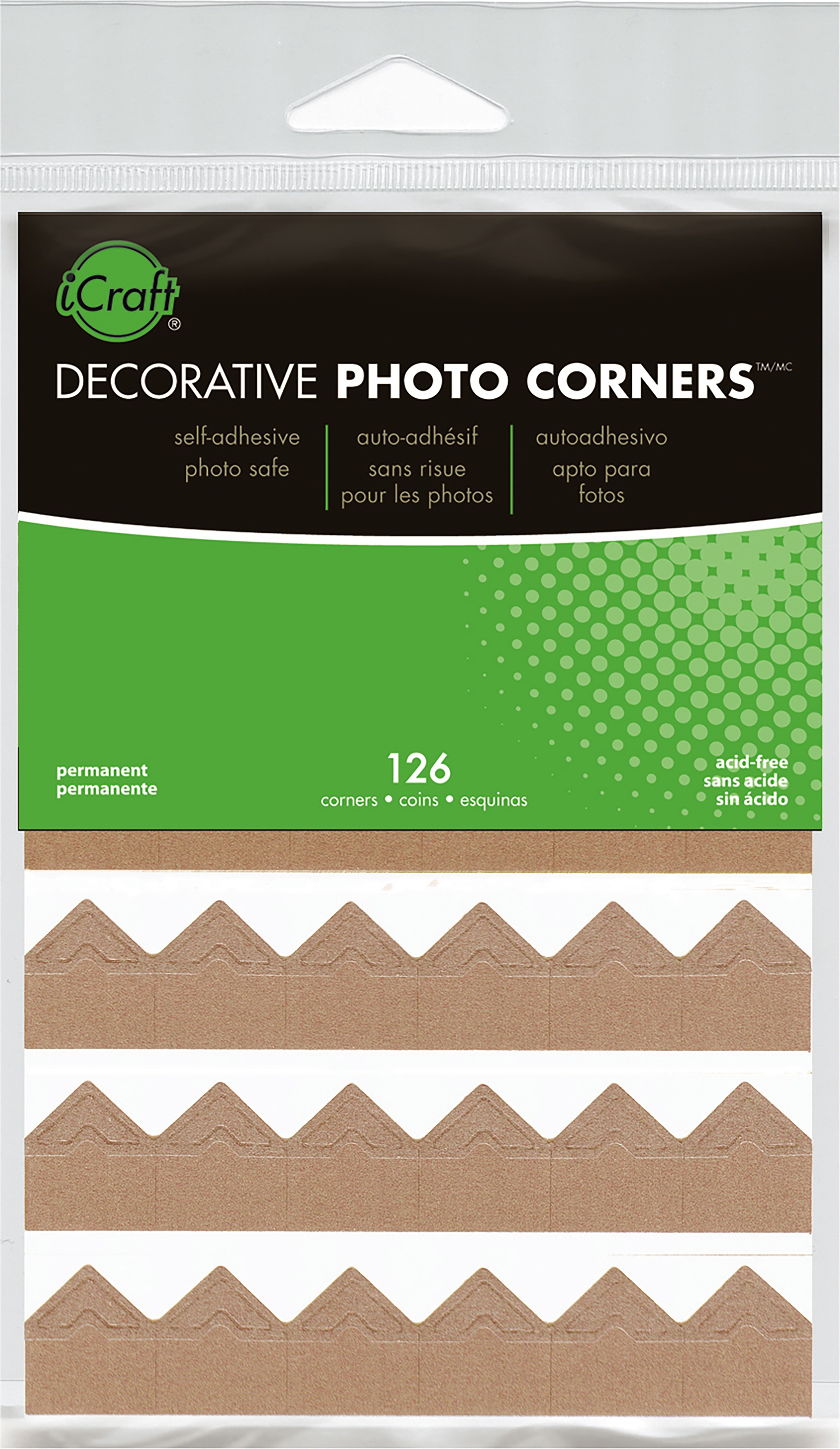 Decorative Photo Corners 126/Pkg-Kraft