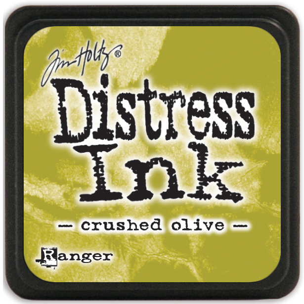 Tim Holtz Distress Mini Ink Pad-Crushed Olive