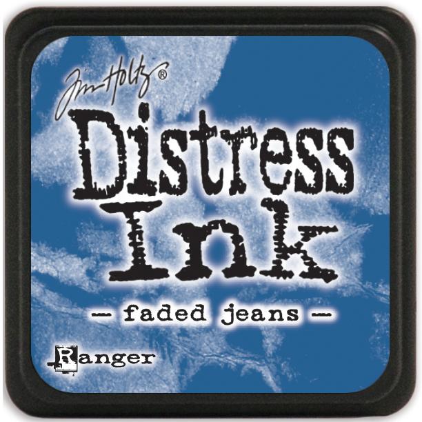Distress Ink Mini Faded Jeans