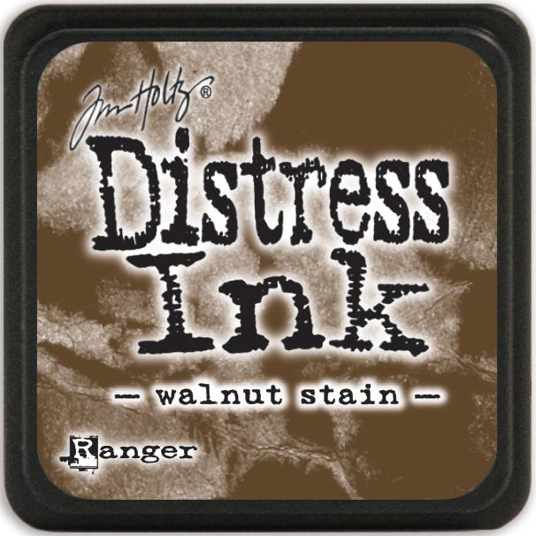 Tim Holtz Distress Mini Ink Pad-Walnut Stain